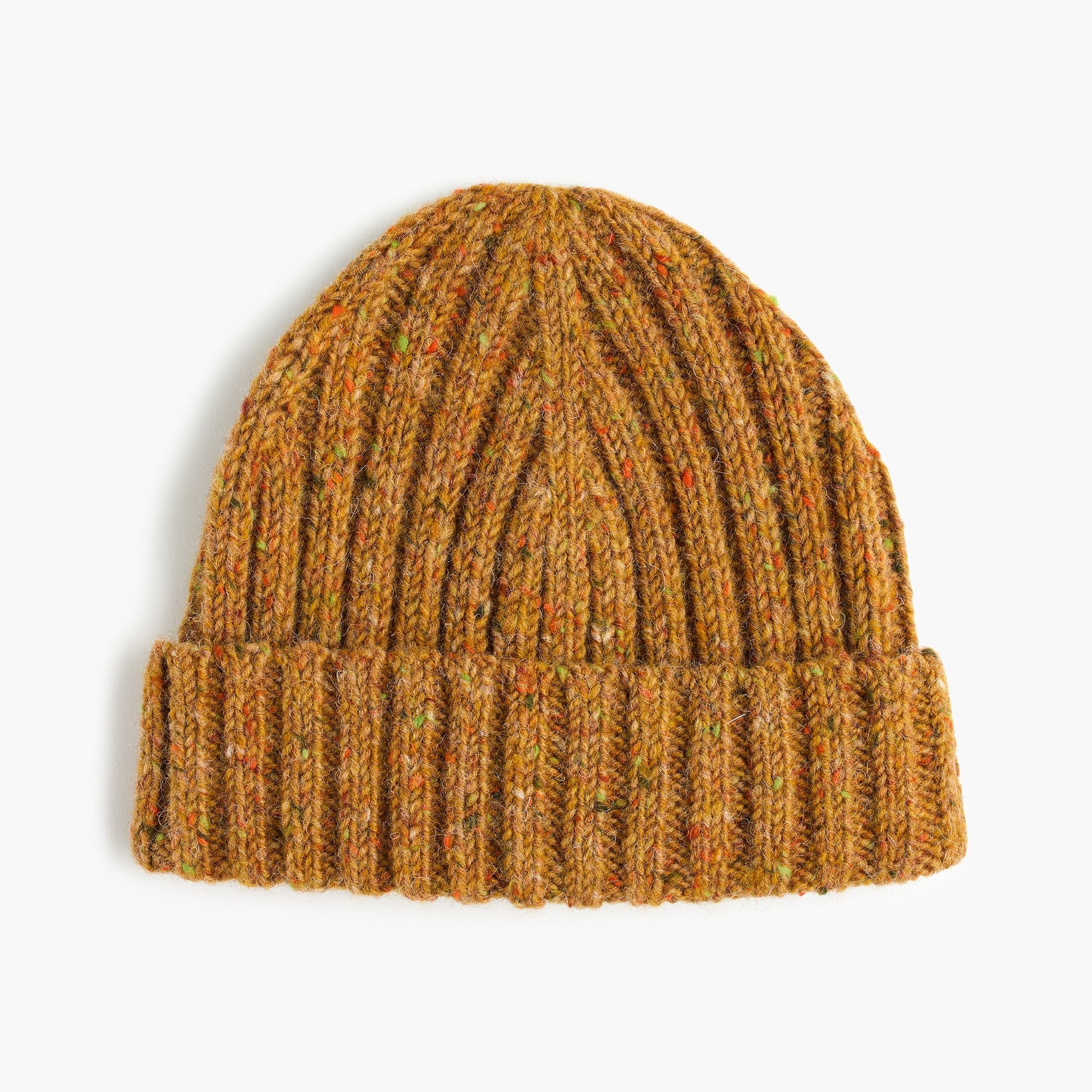 Donegal wool ribbed beanie