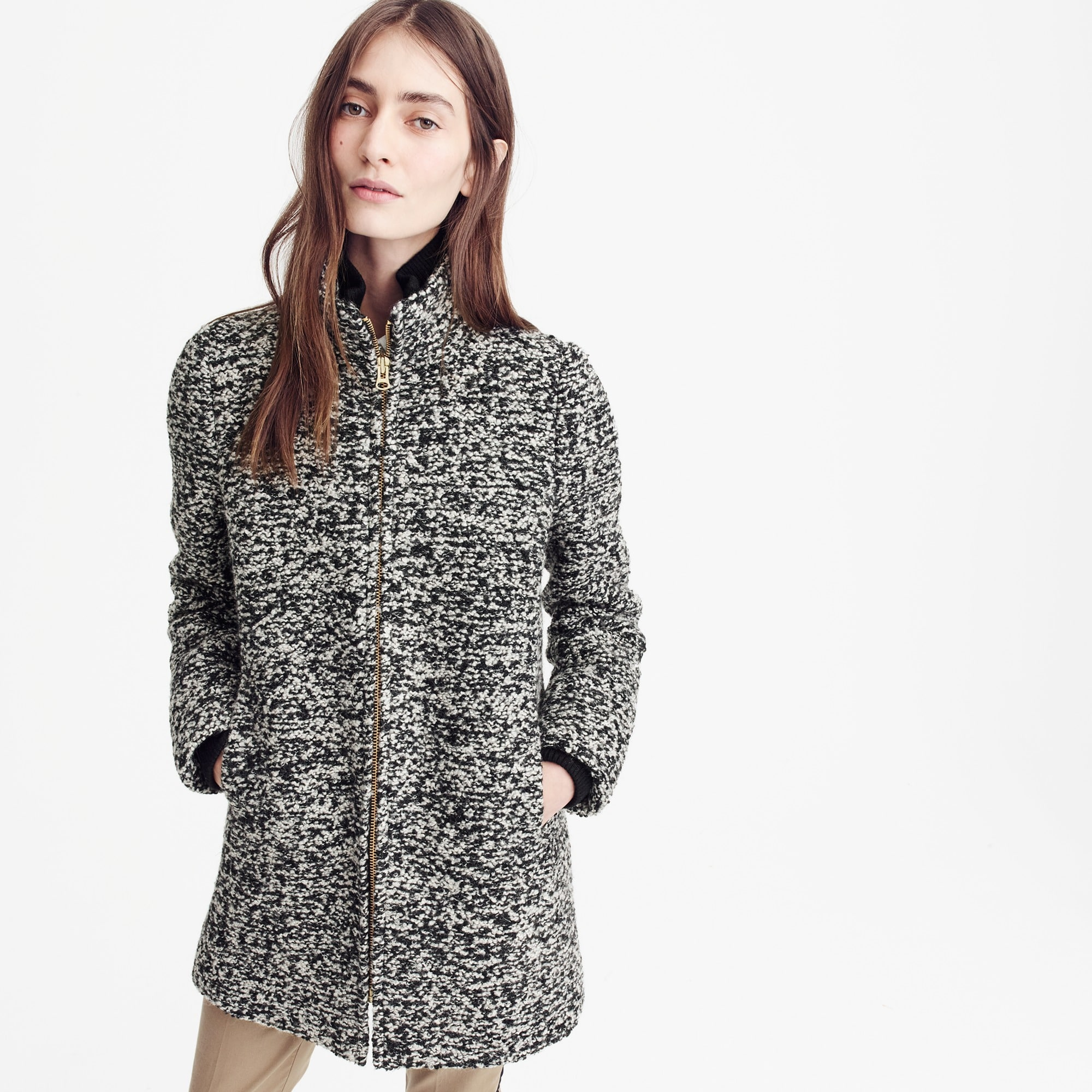 Lodge coat in speckled boucle