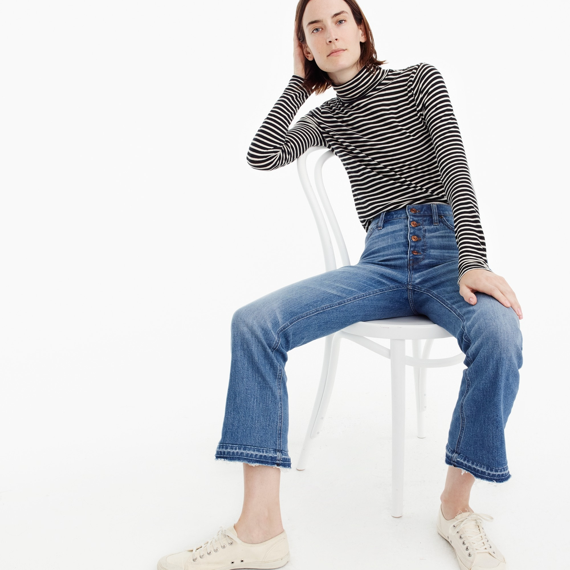 Image 1 for Tall demi-boot crop jean in redwood wash
