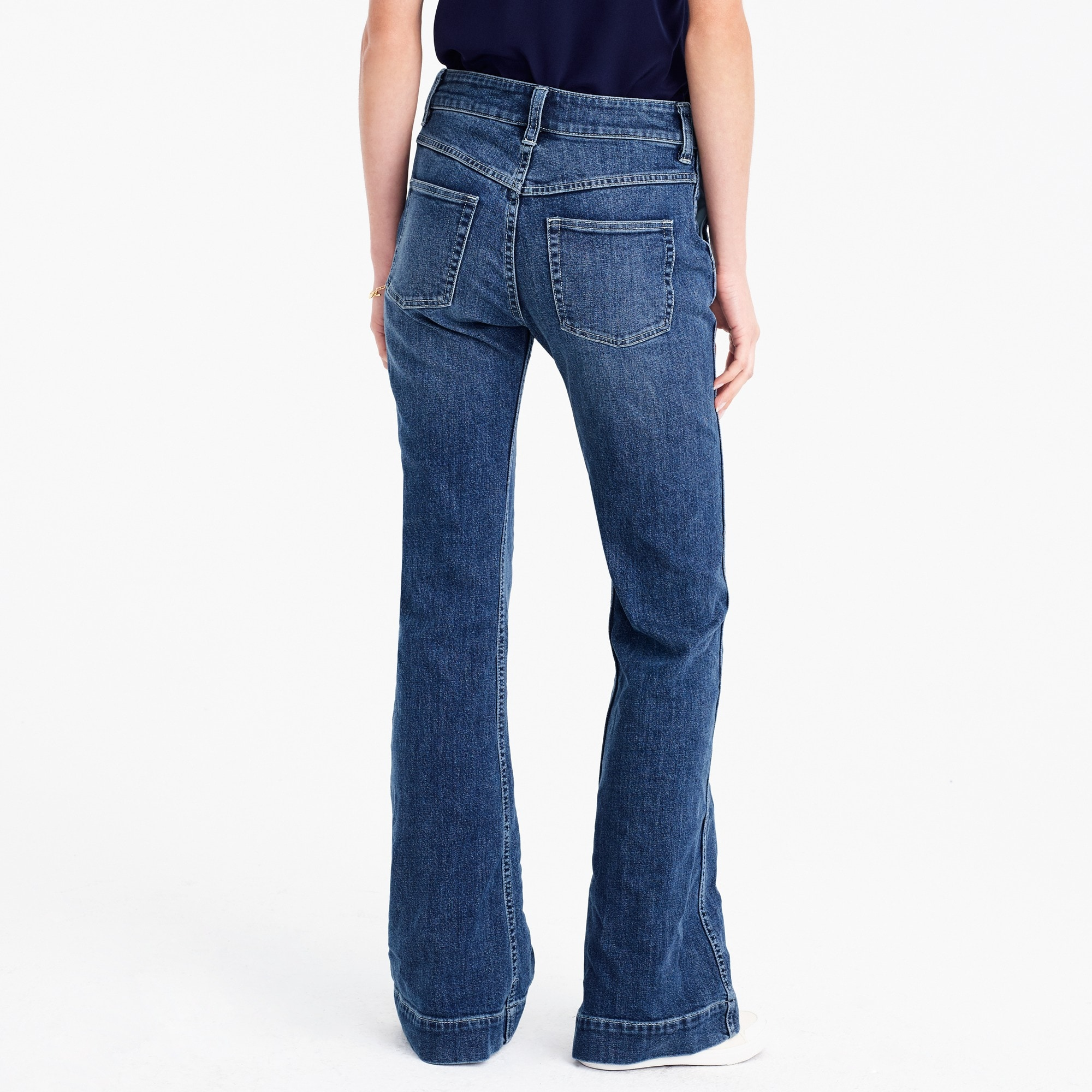 Wide-leg trouser jean in Tahoe wash