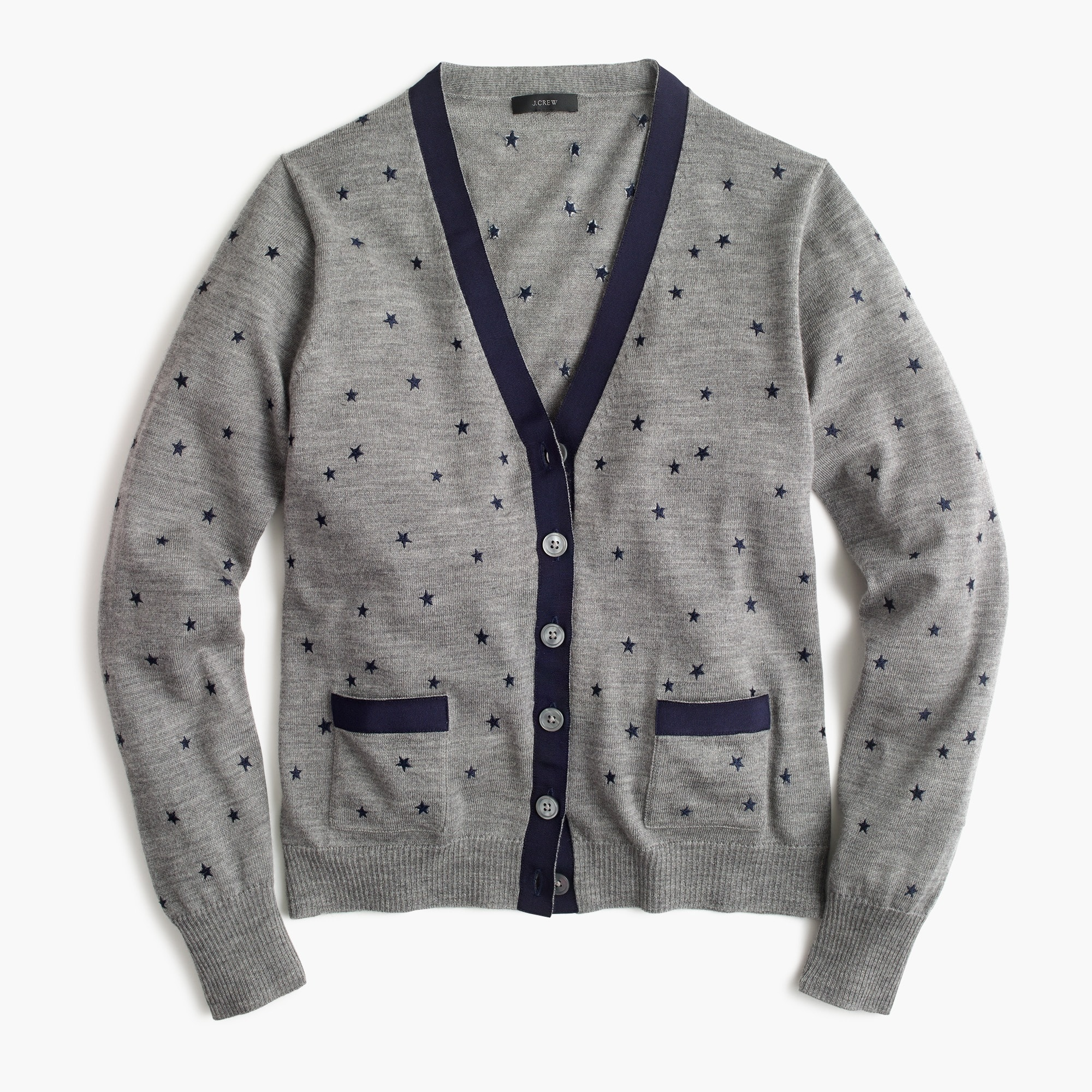 harlow cardigan sweater in star print : women sweaters
