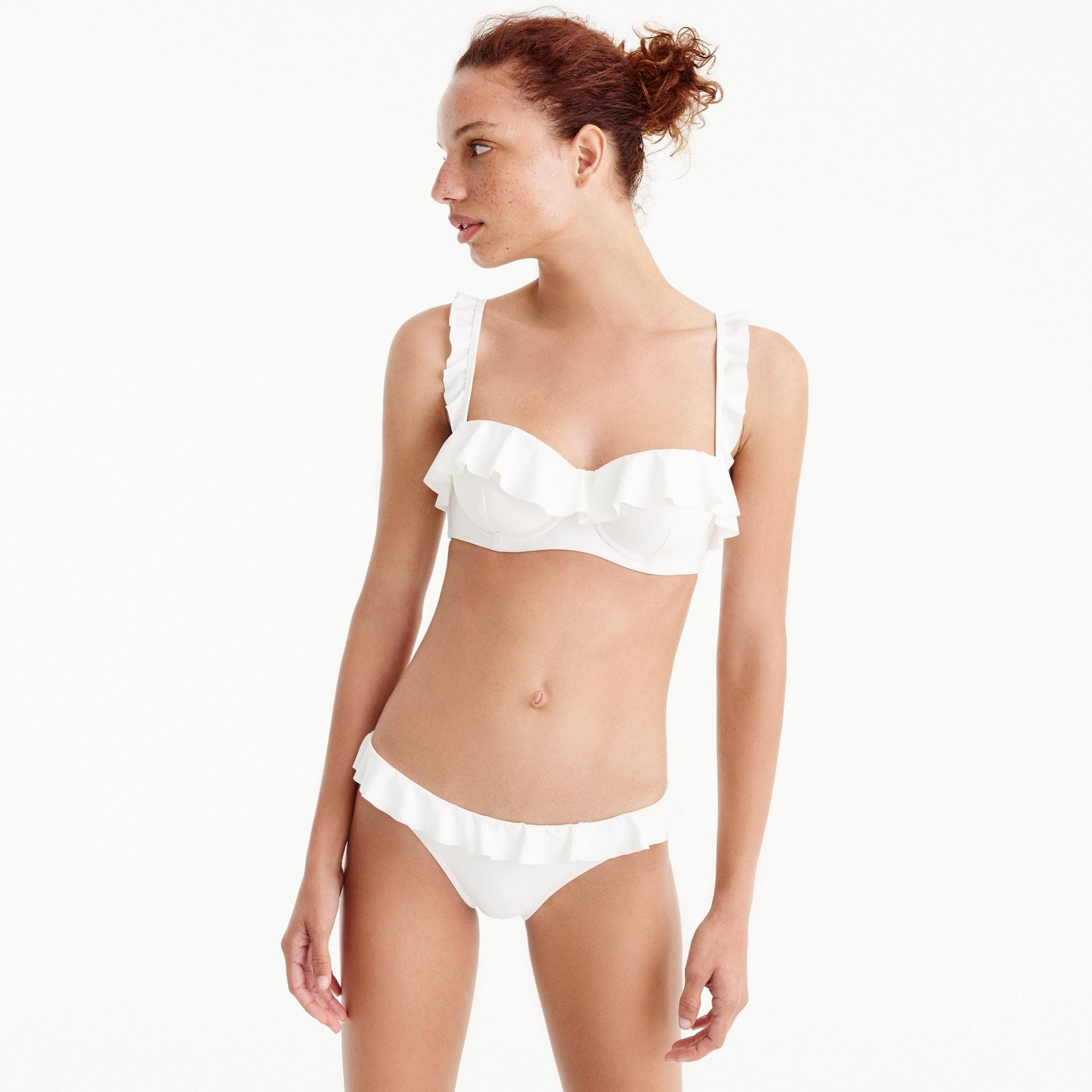Ruffle underwire bikini top women swim c