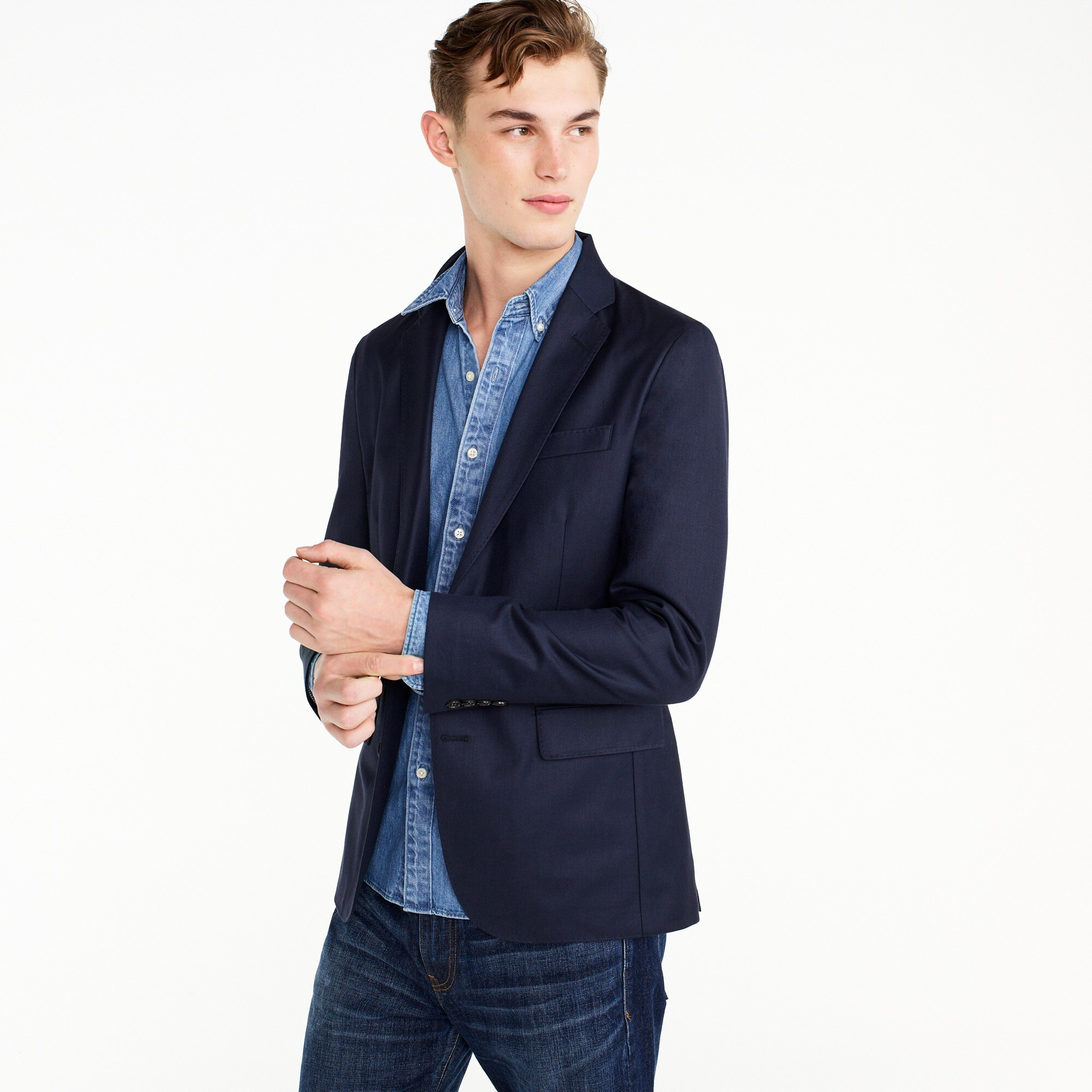 Image 1 for Ludlow Slim-fit unstructured blazer in American wool