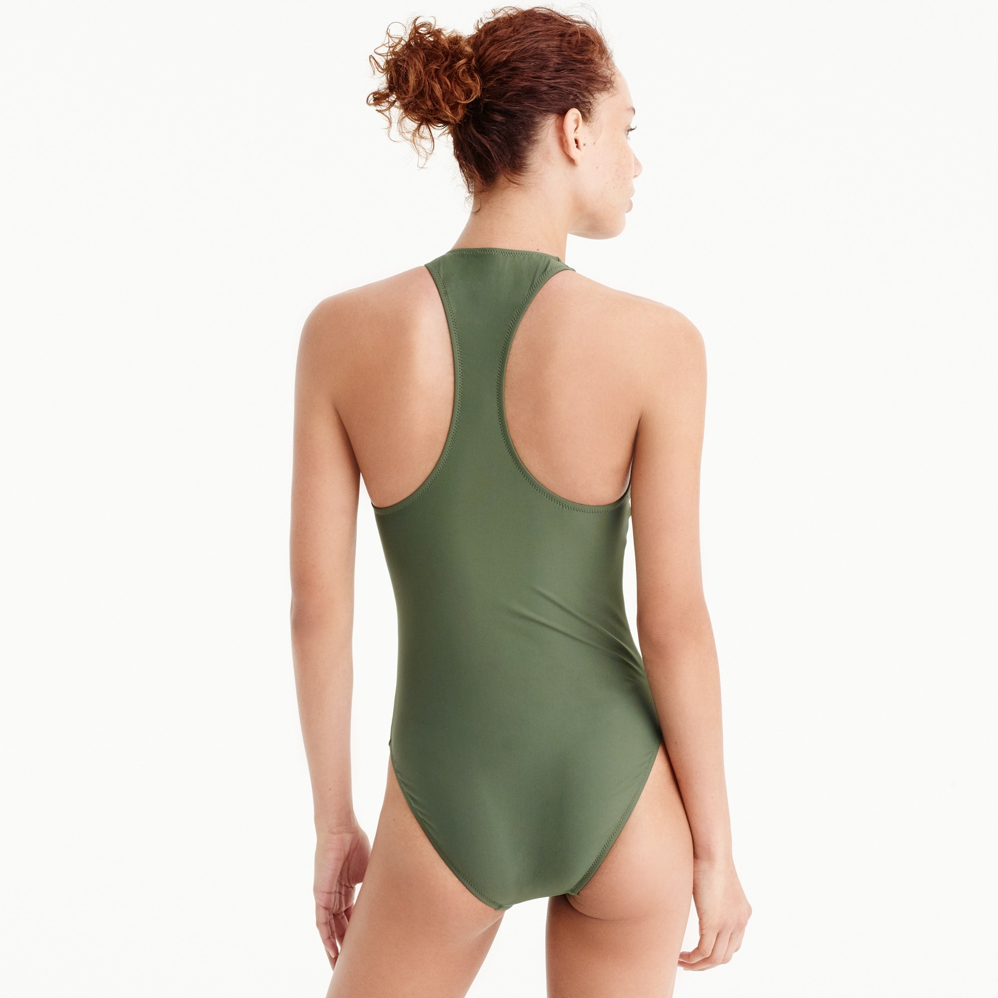 Image 3 for Zip-front one-piece swimsuit