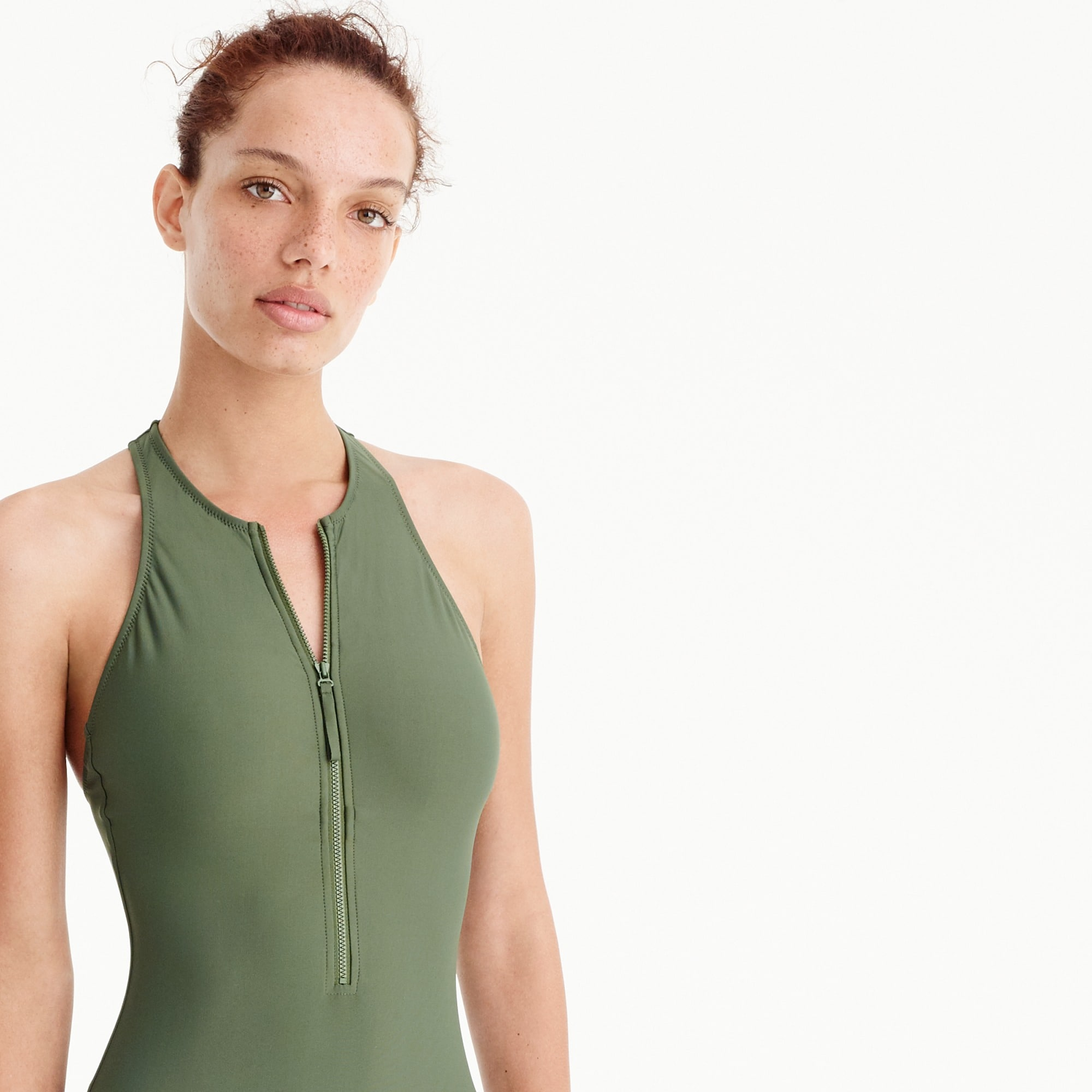 Image 4 for Zip-front one-piece swimsuit