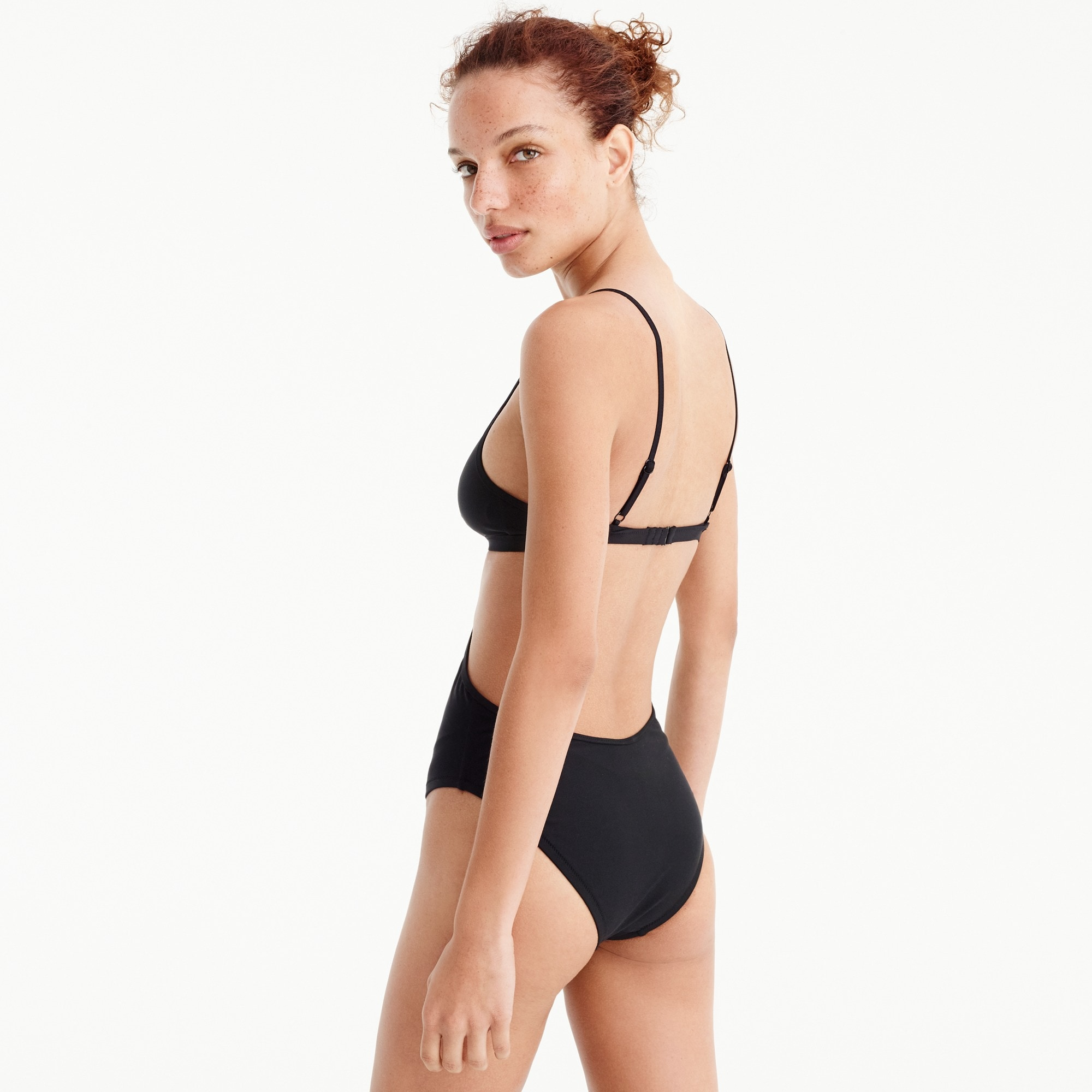 Cutout one-piece swimsuit