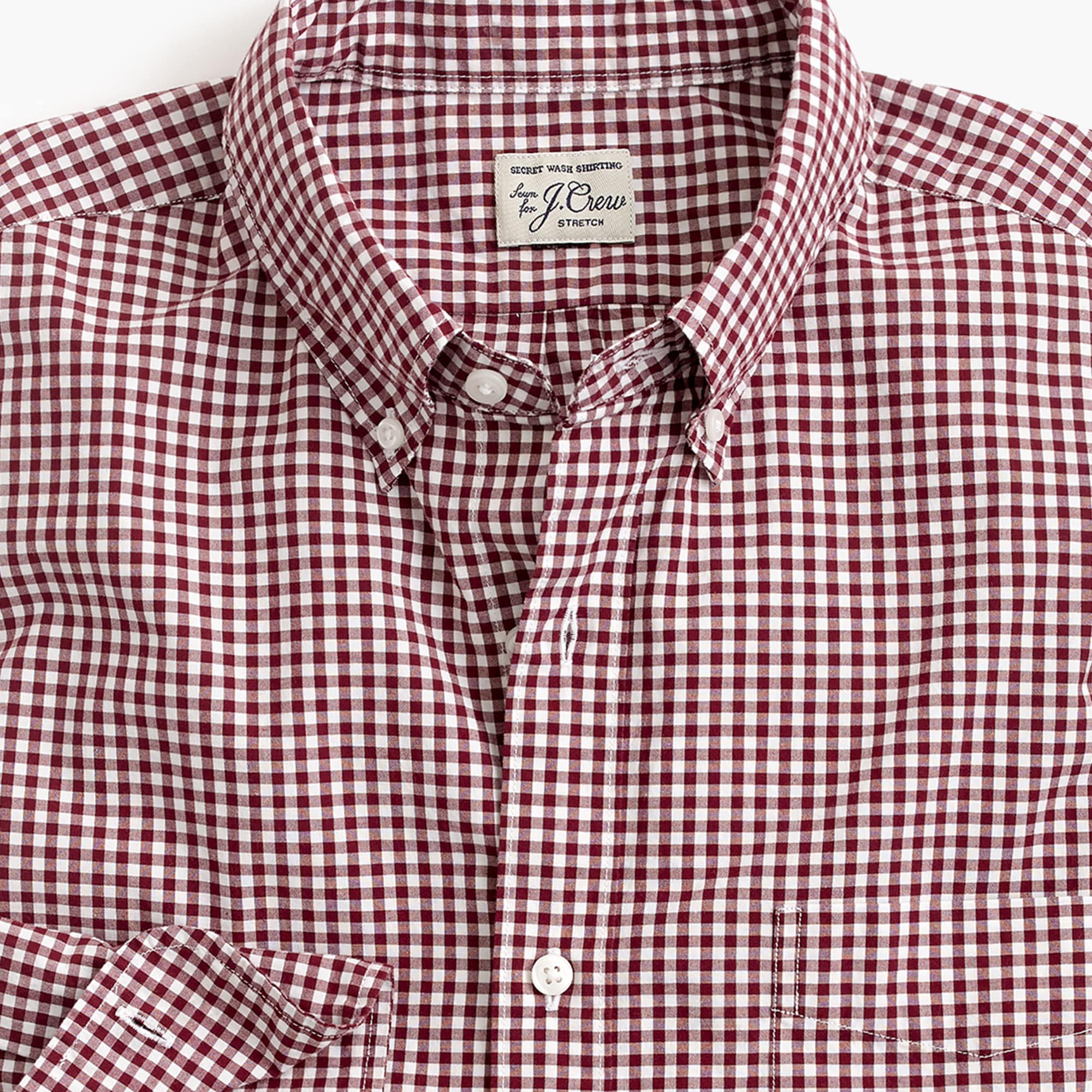 Image 4 for Tall stretch Secret Wash shirt in gingham poplin