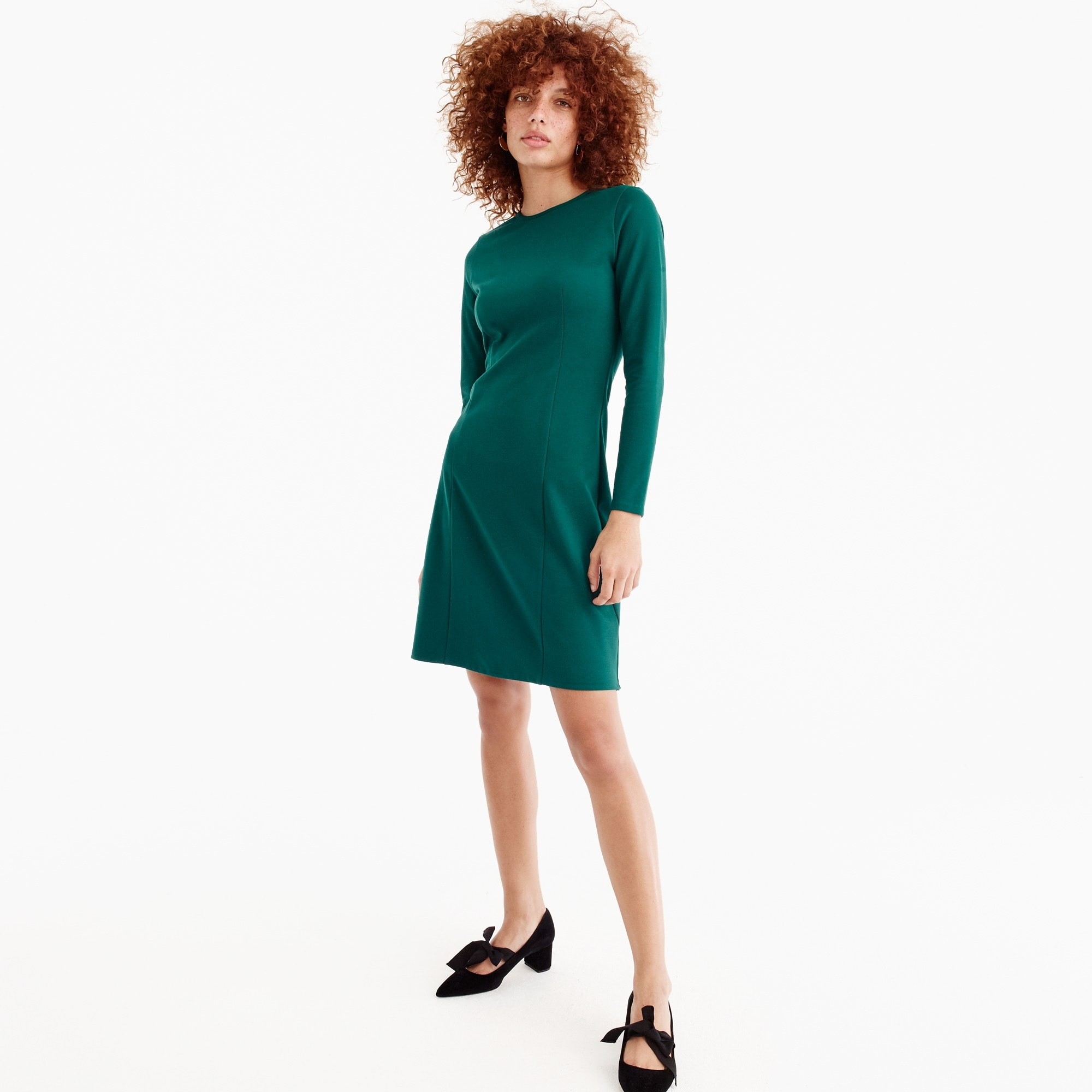 Petite Long-sleeve sheath dress