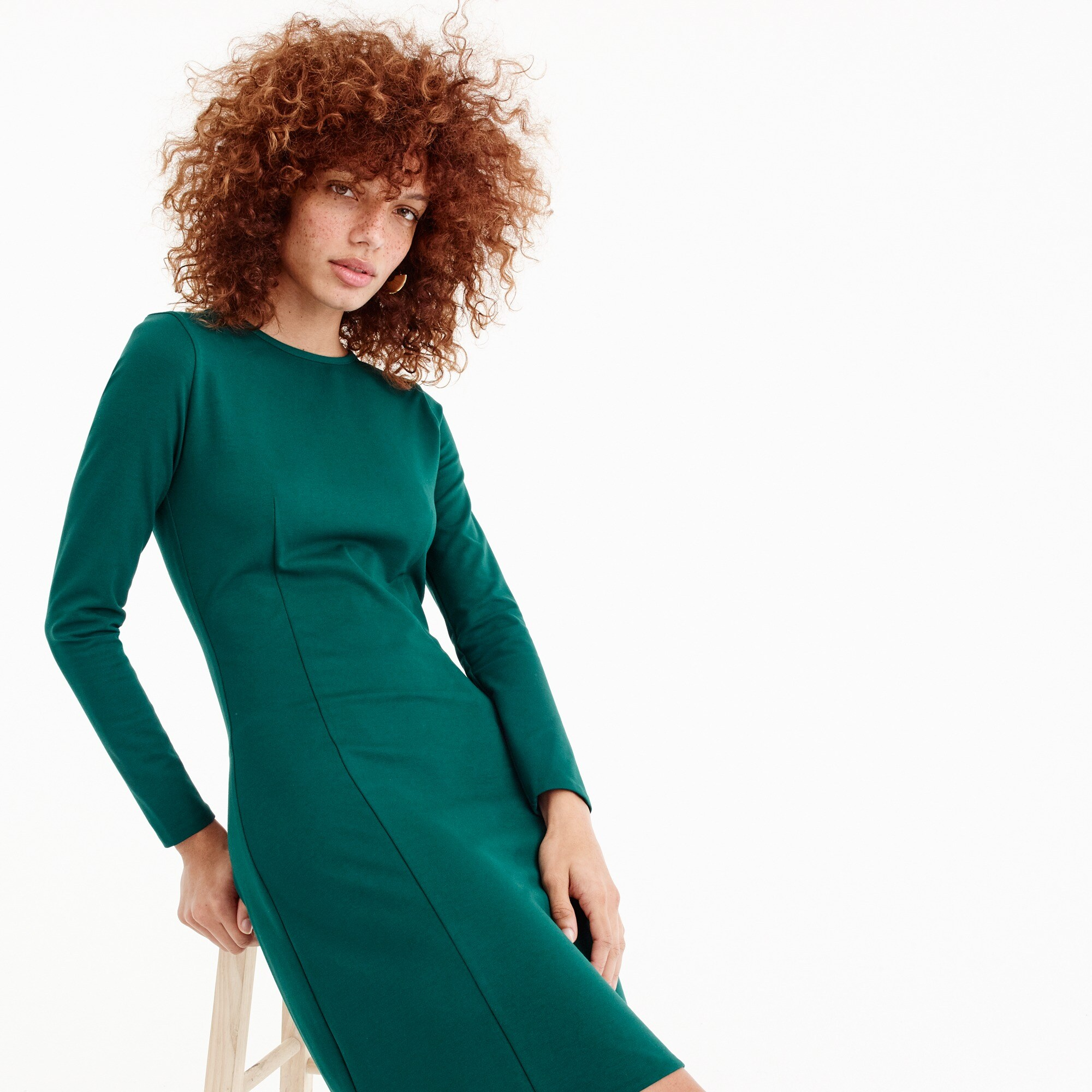Image 1 for Petite Long-sleeve sheath dress