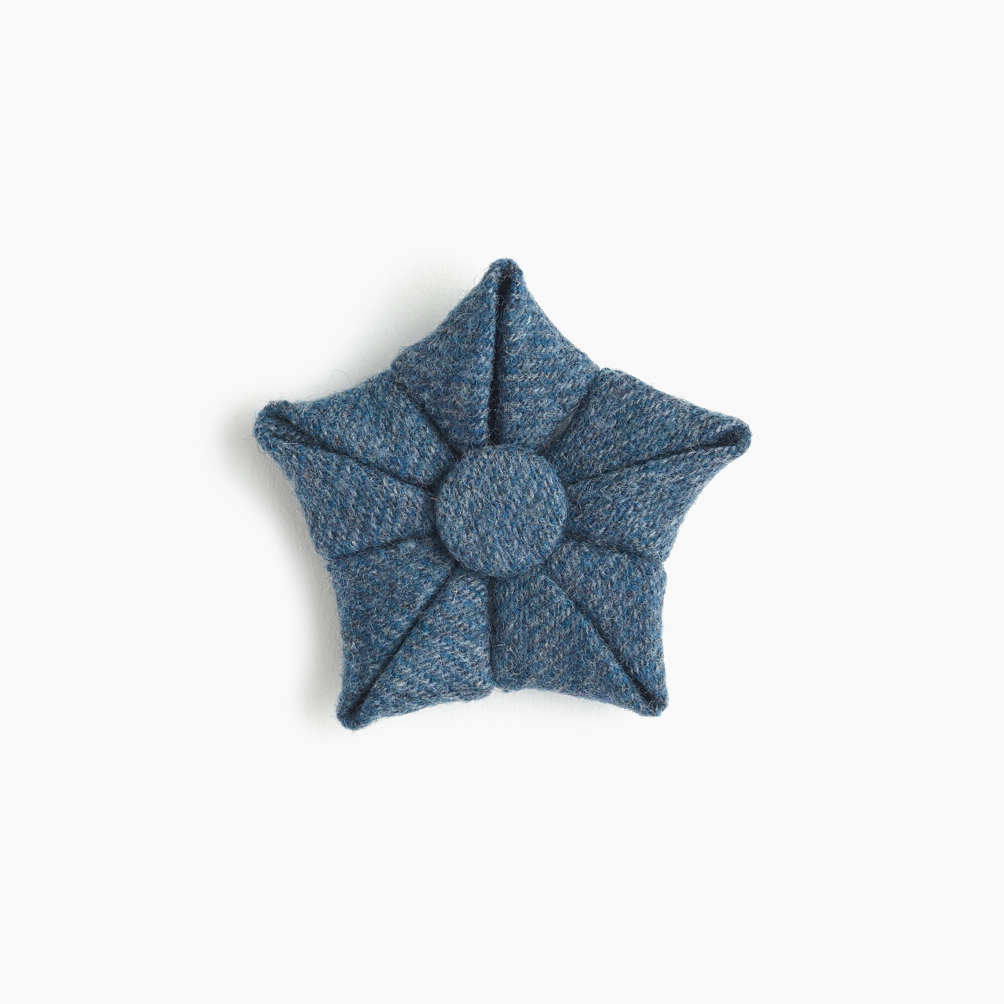 Paul Feig™ J.Crew for blue wool flower lapel pin