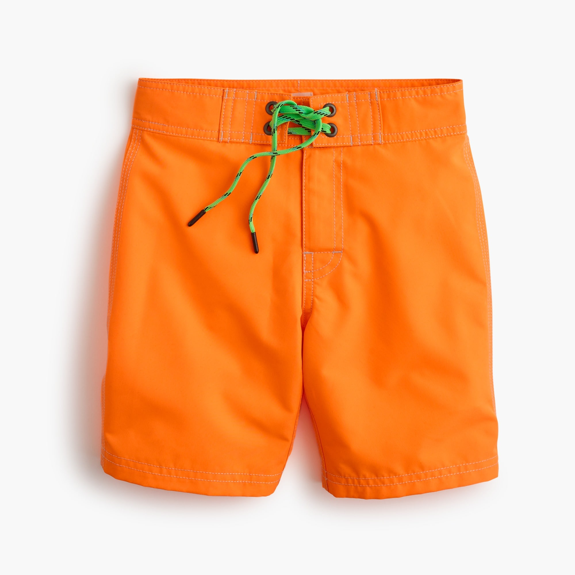 boys' board short in bright orange - boys' swimwear