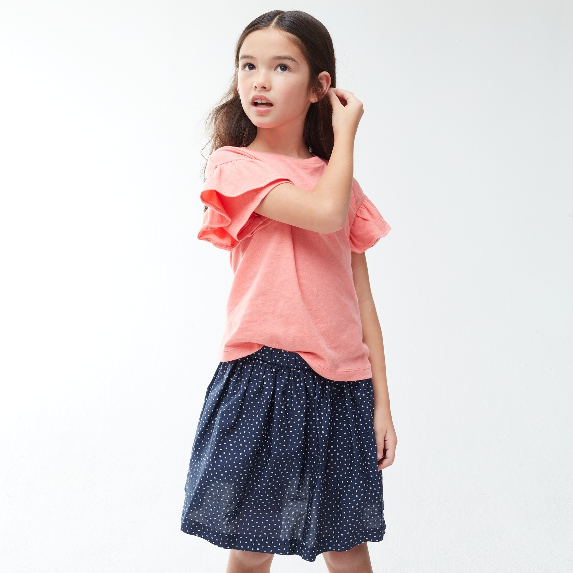 Girls' pull-on skirt in tiny stars girl new arrivals c
