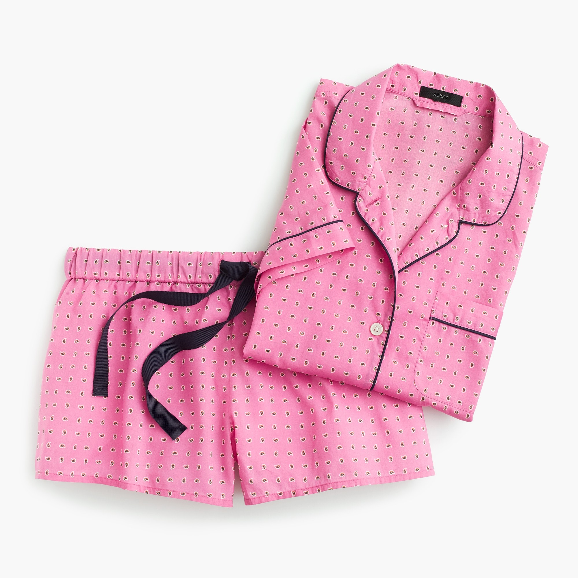 Pajama set in pink foulard