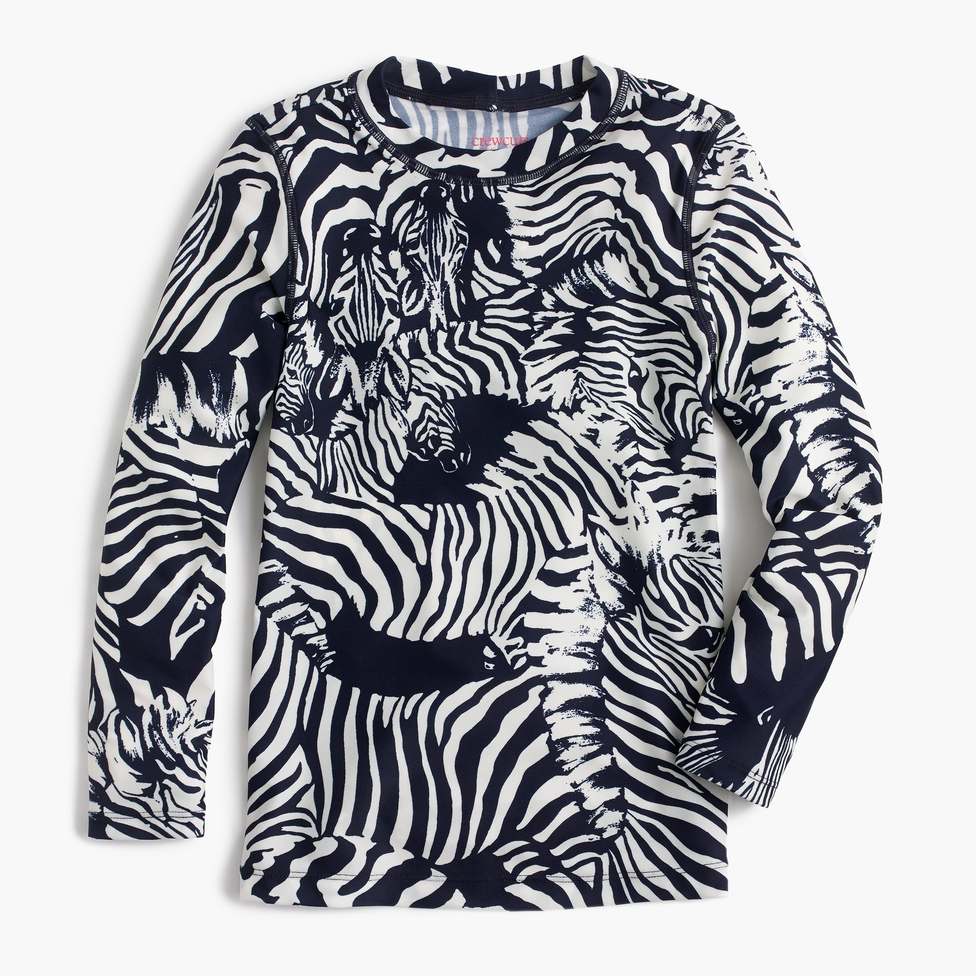 Girls' rash guard in Ratti® zebra print