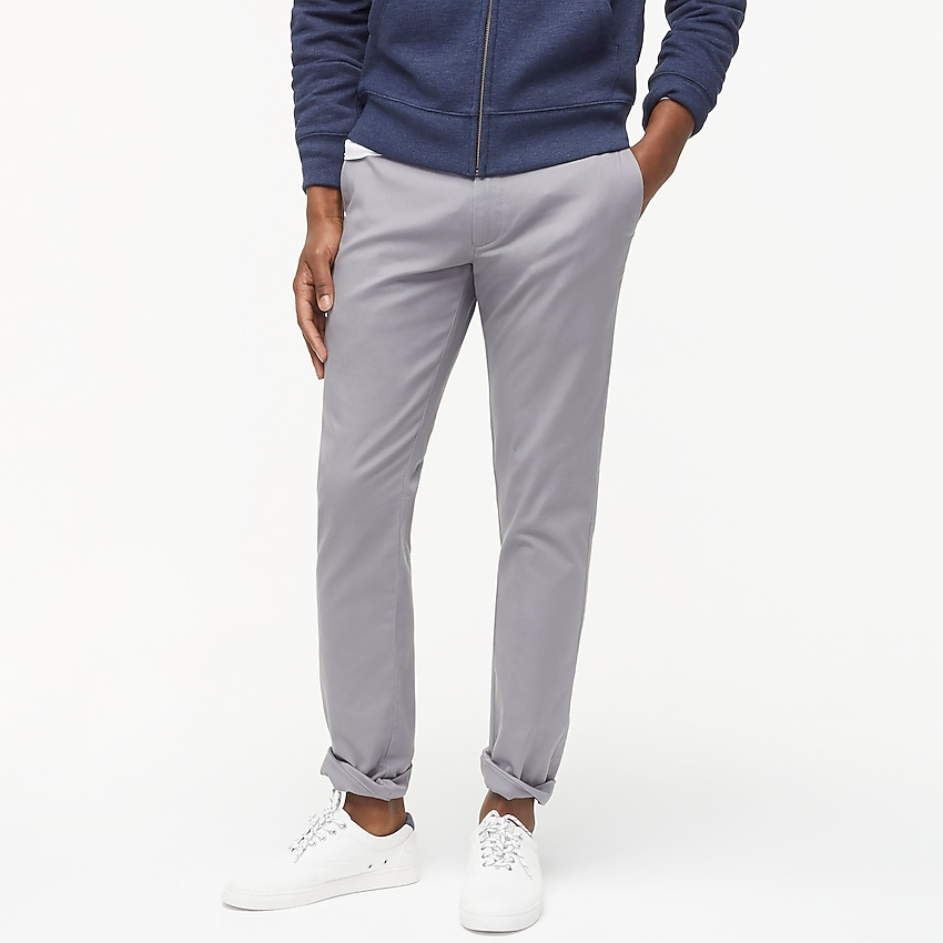 j.crew factory: slim-fit flex khaki pant for men, right side, view zoomed