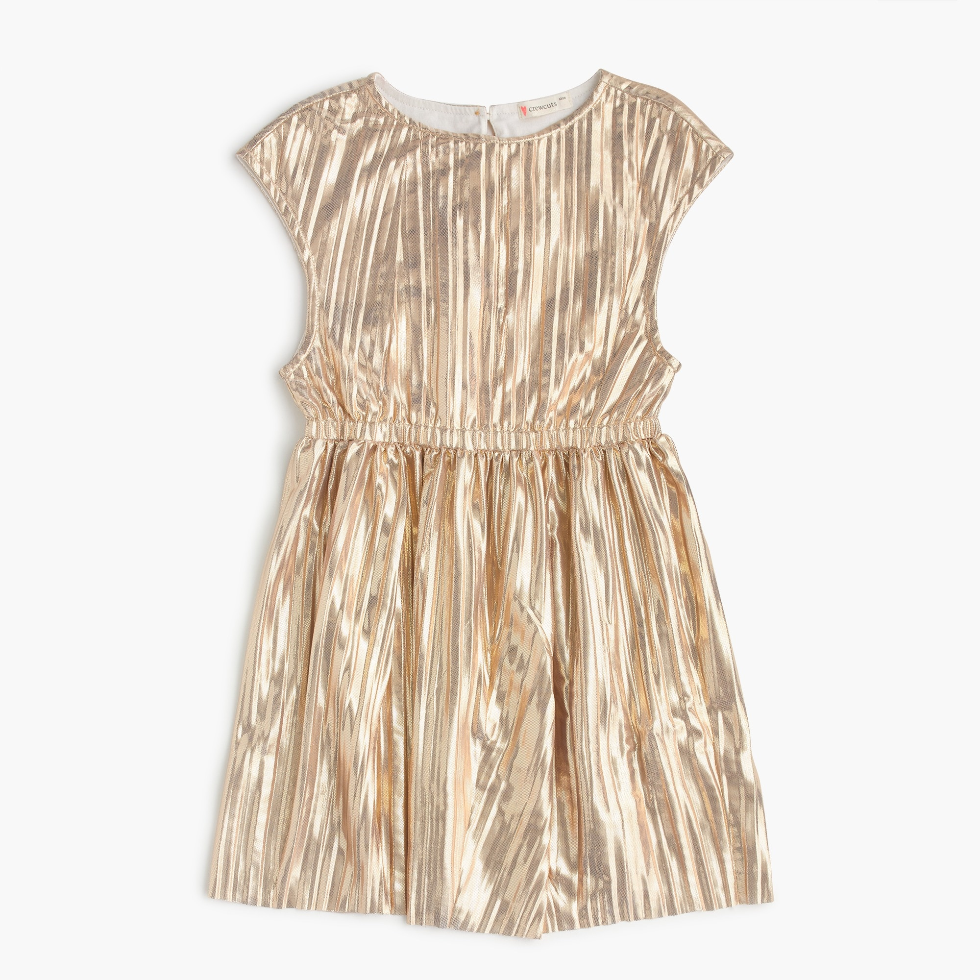 girls Girls' gold micropleat dress