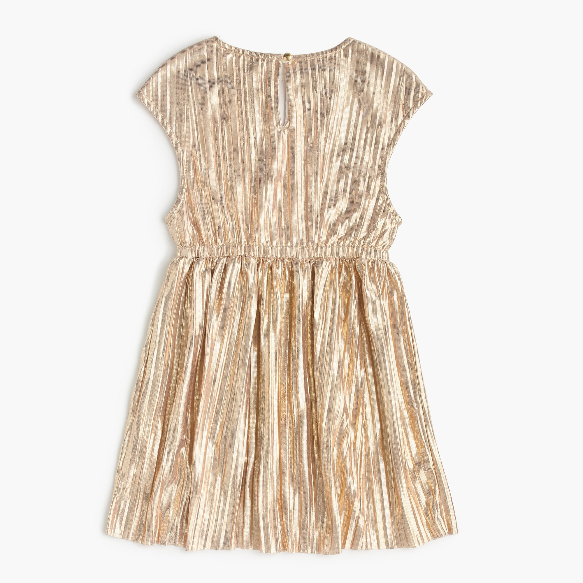 Girls' gold micropleat dress