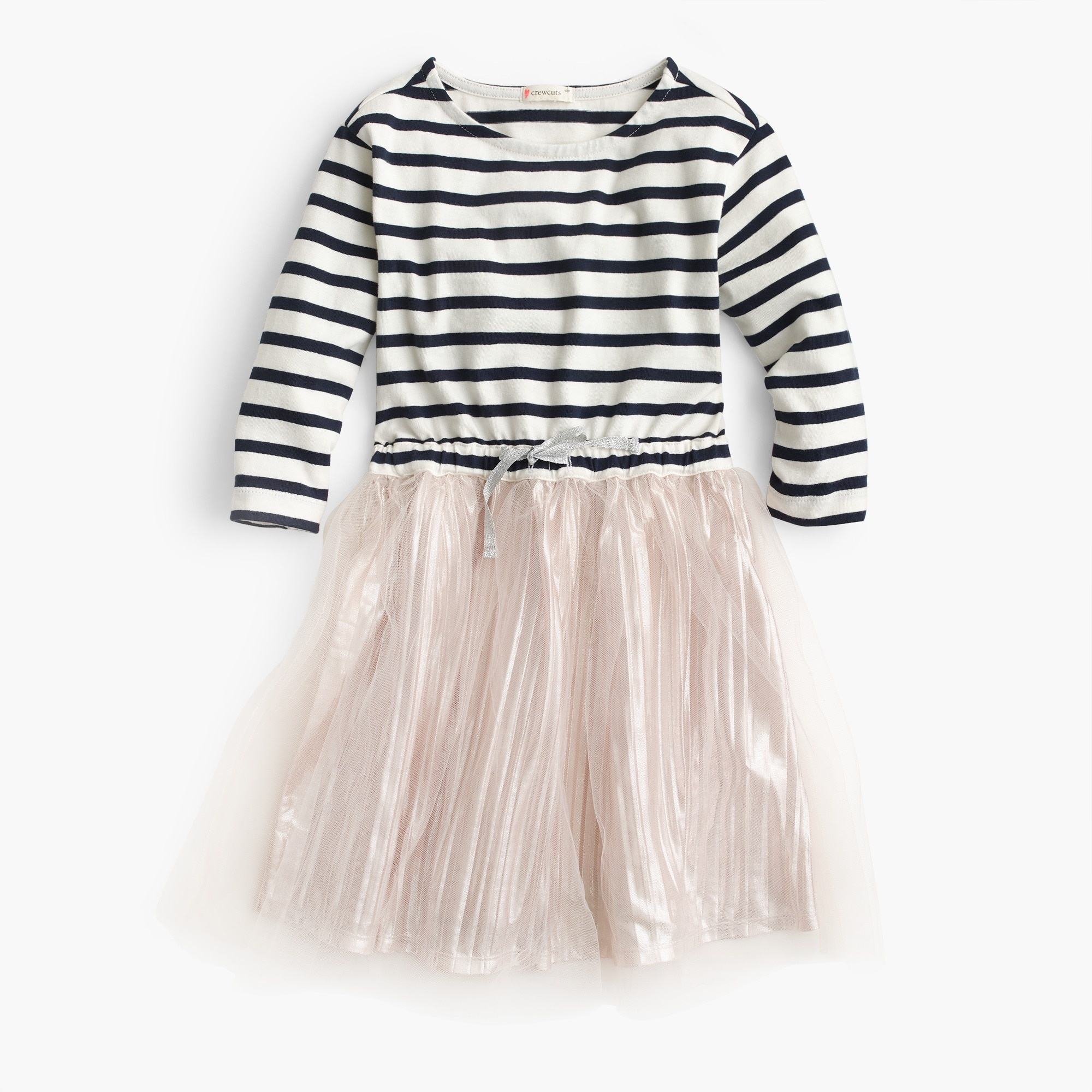 Image 1 for Girls' stripe-and-shimmer dress