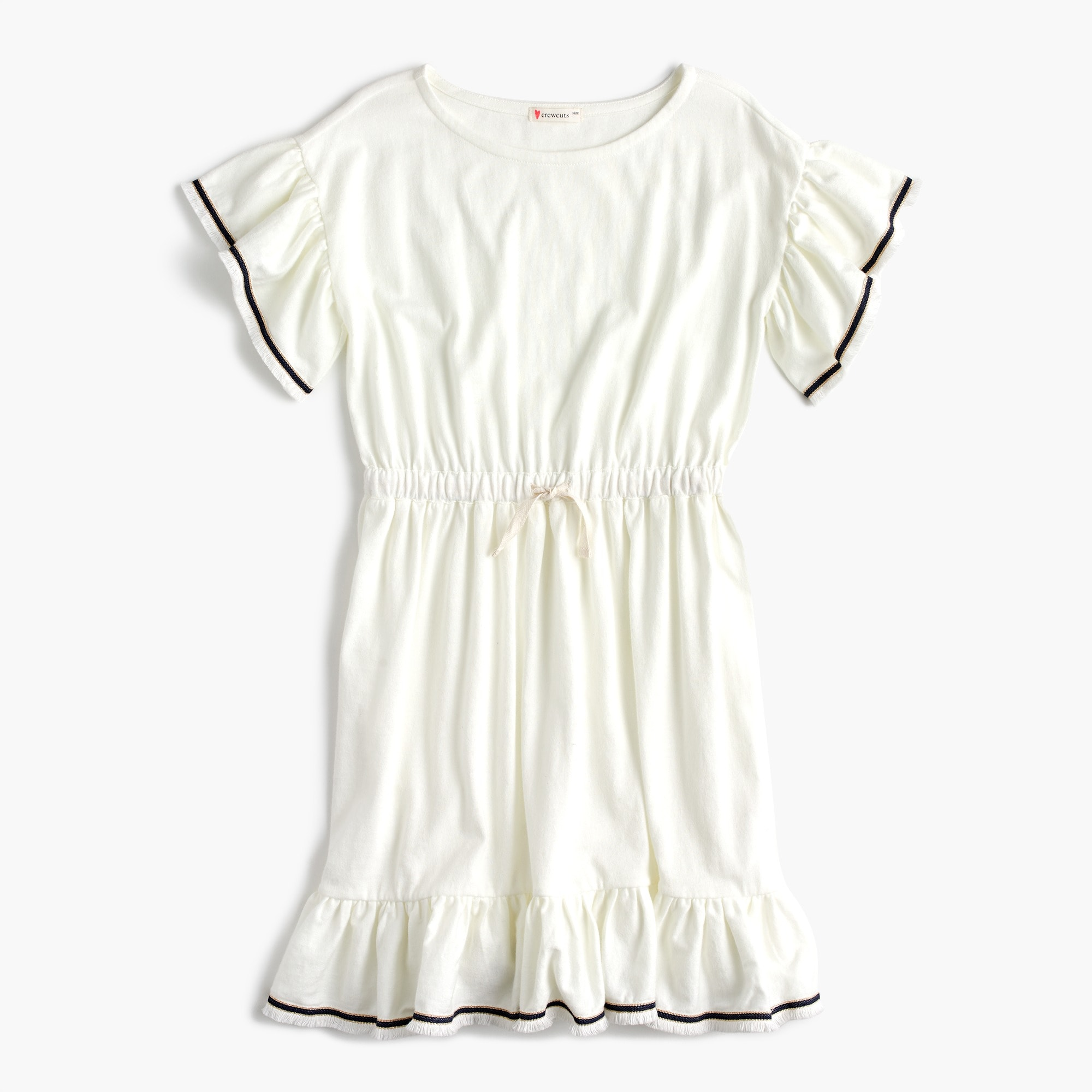 Girls' flutter-sleeve dress