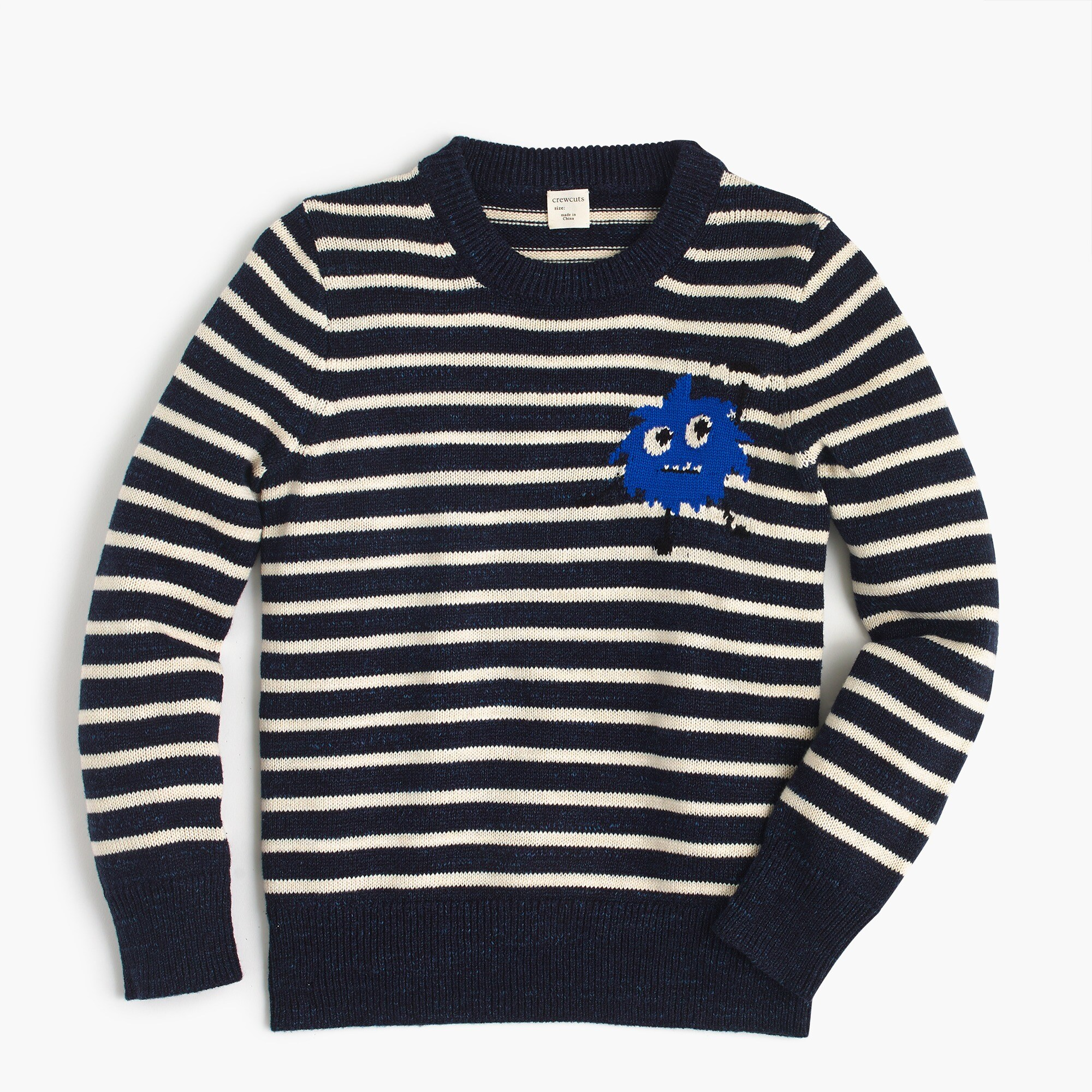 Max the Monster™ boys' striped cotton crewneck