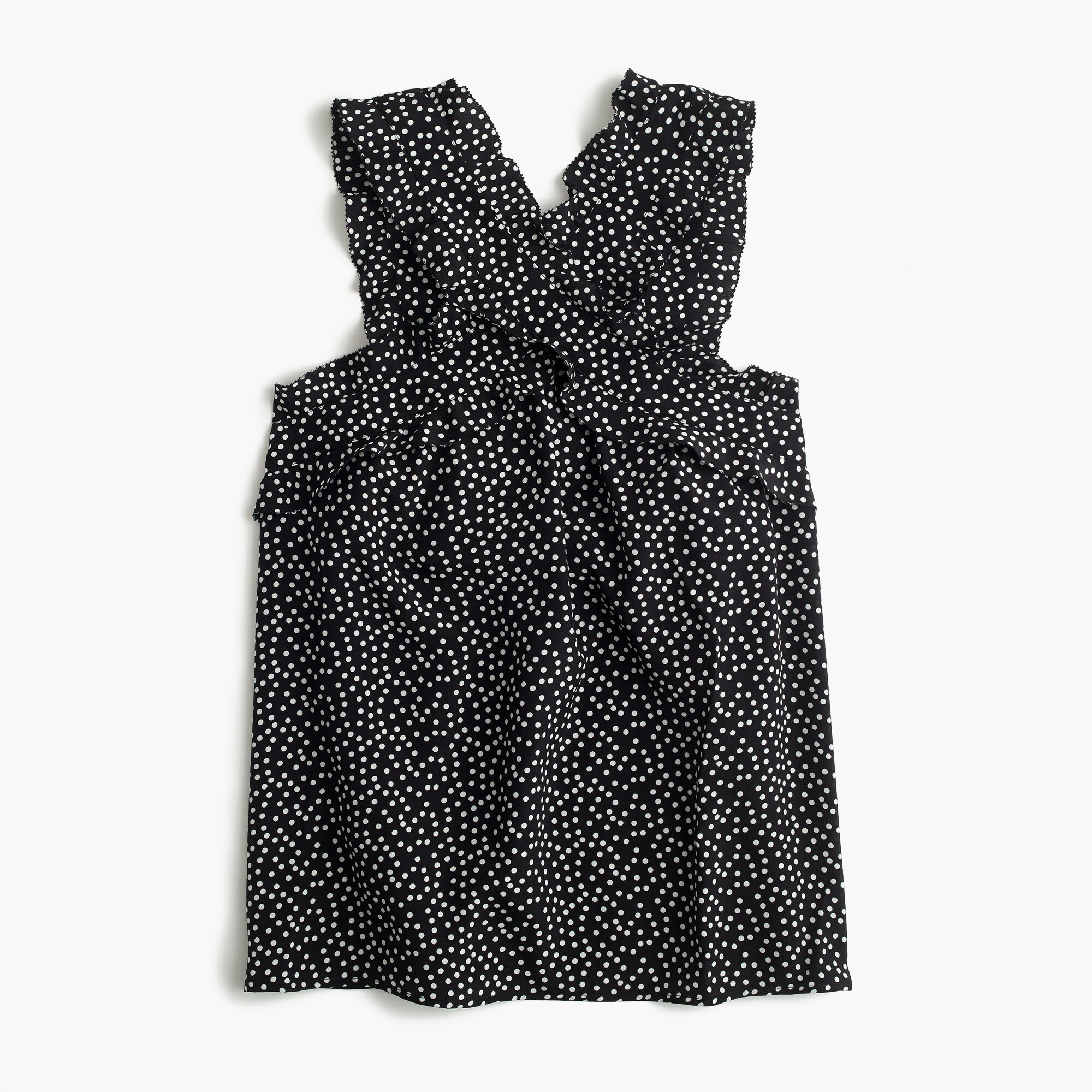 Tall Drapey wrap-front top in polka dot