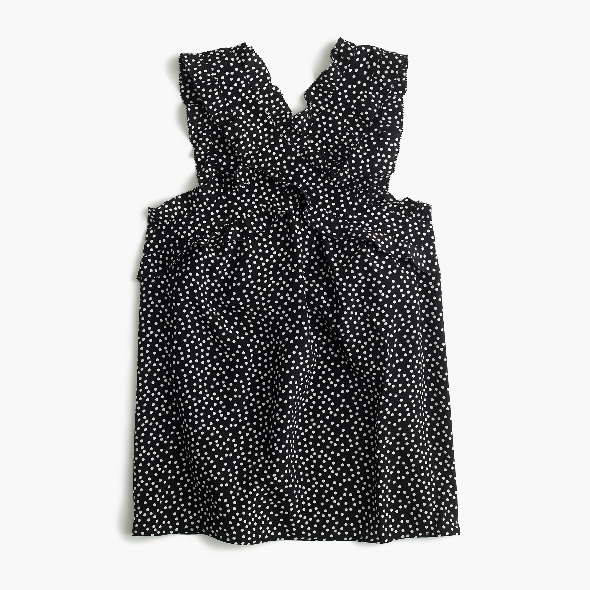 tall drapey wrap-front top in polka dot : women shirtsandtops