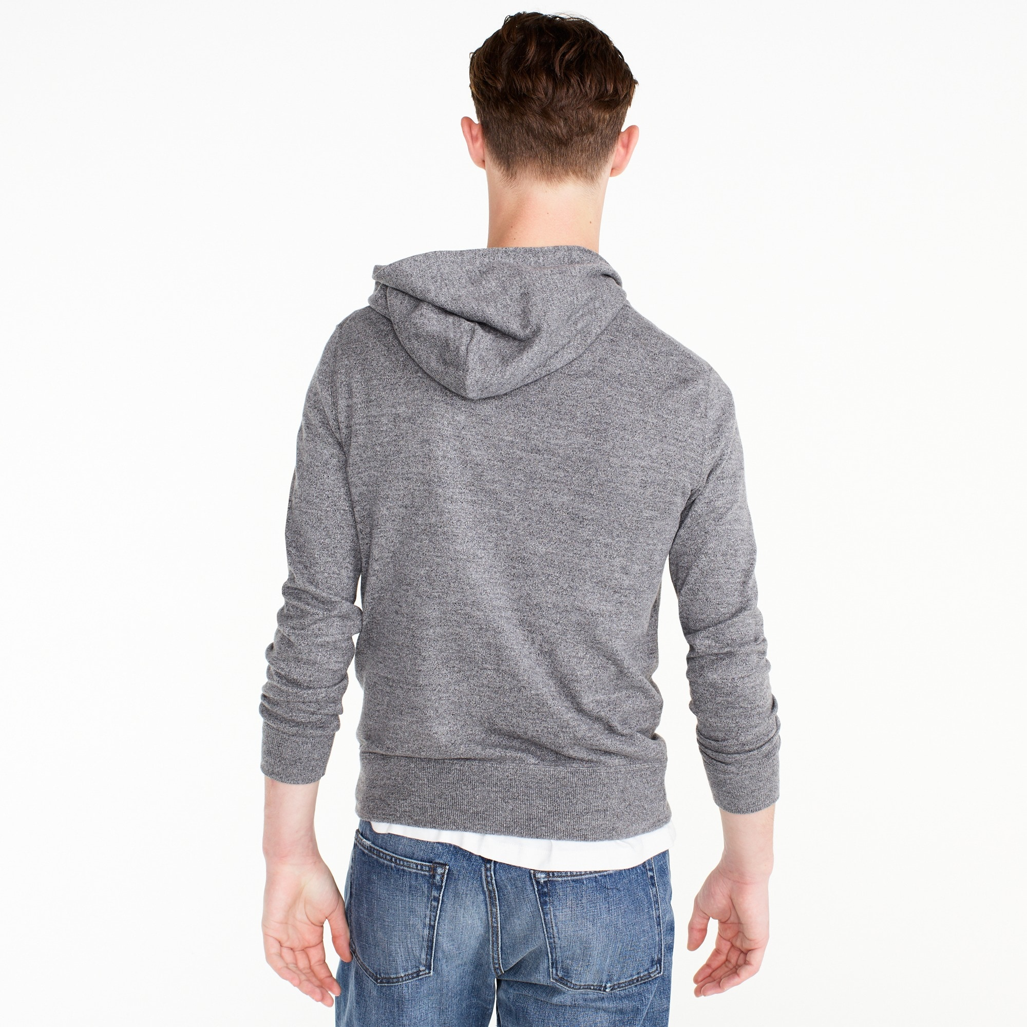 Image 2 for Cotton pullover hoodie in grey