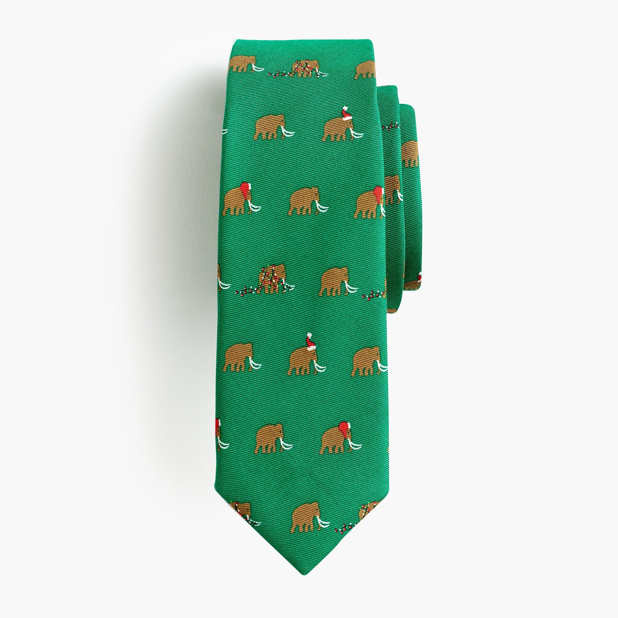 boys' silk tie in holiday mammoth : boy ties & bow ties