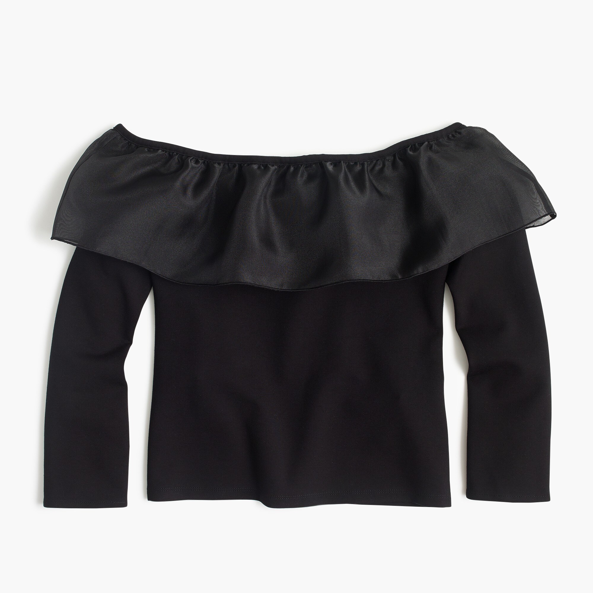 organza ruffle top : women long sleeve