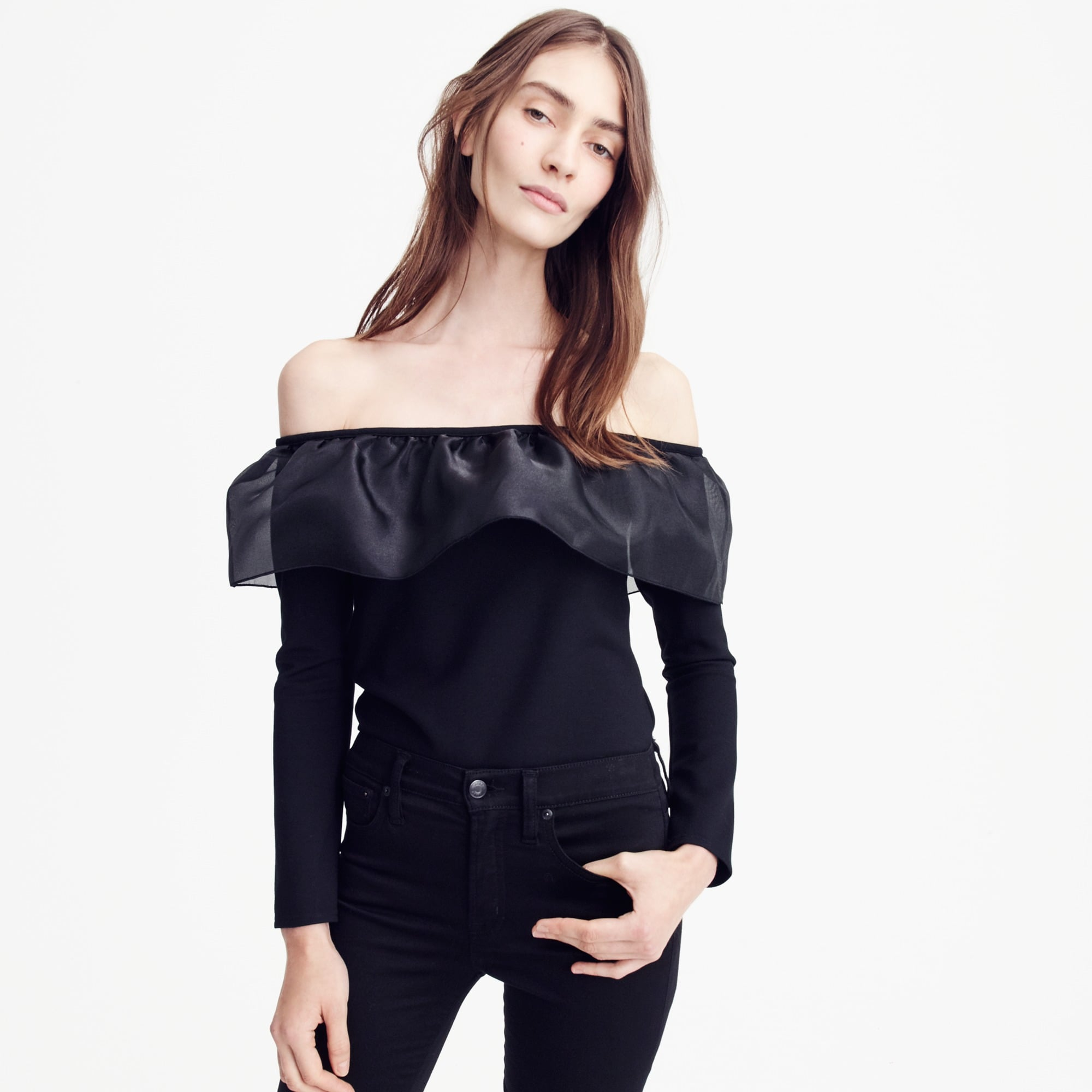 Image 2 for Organza ruffle top