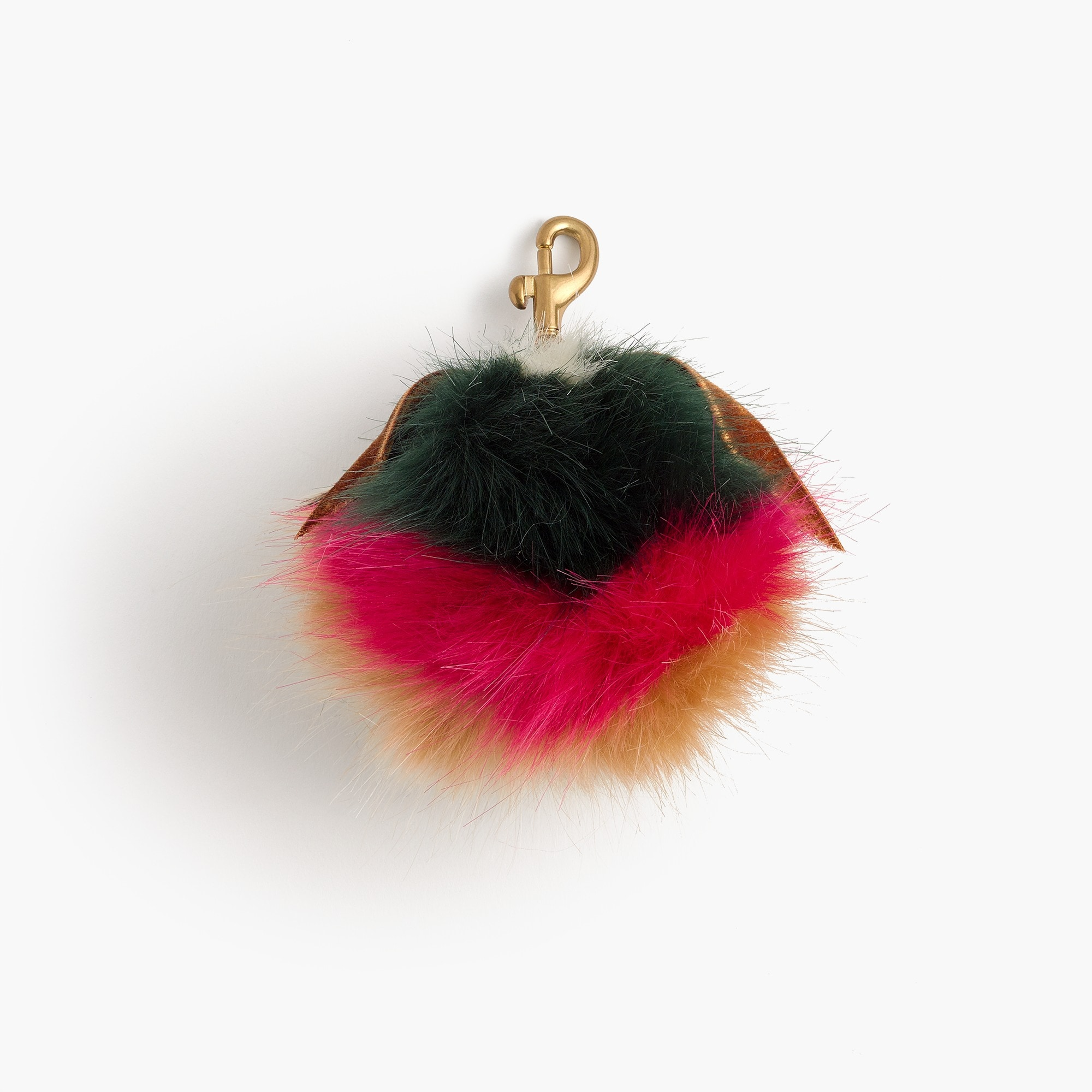 Image 1 for Striped fur pom pom