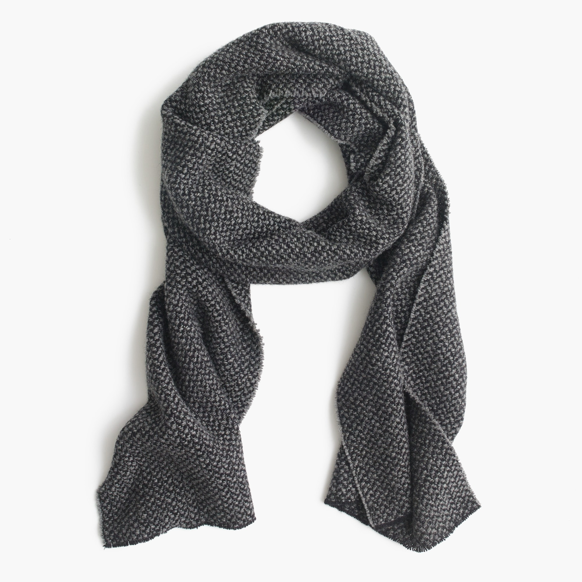 Bird's-eye wool scarf