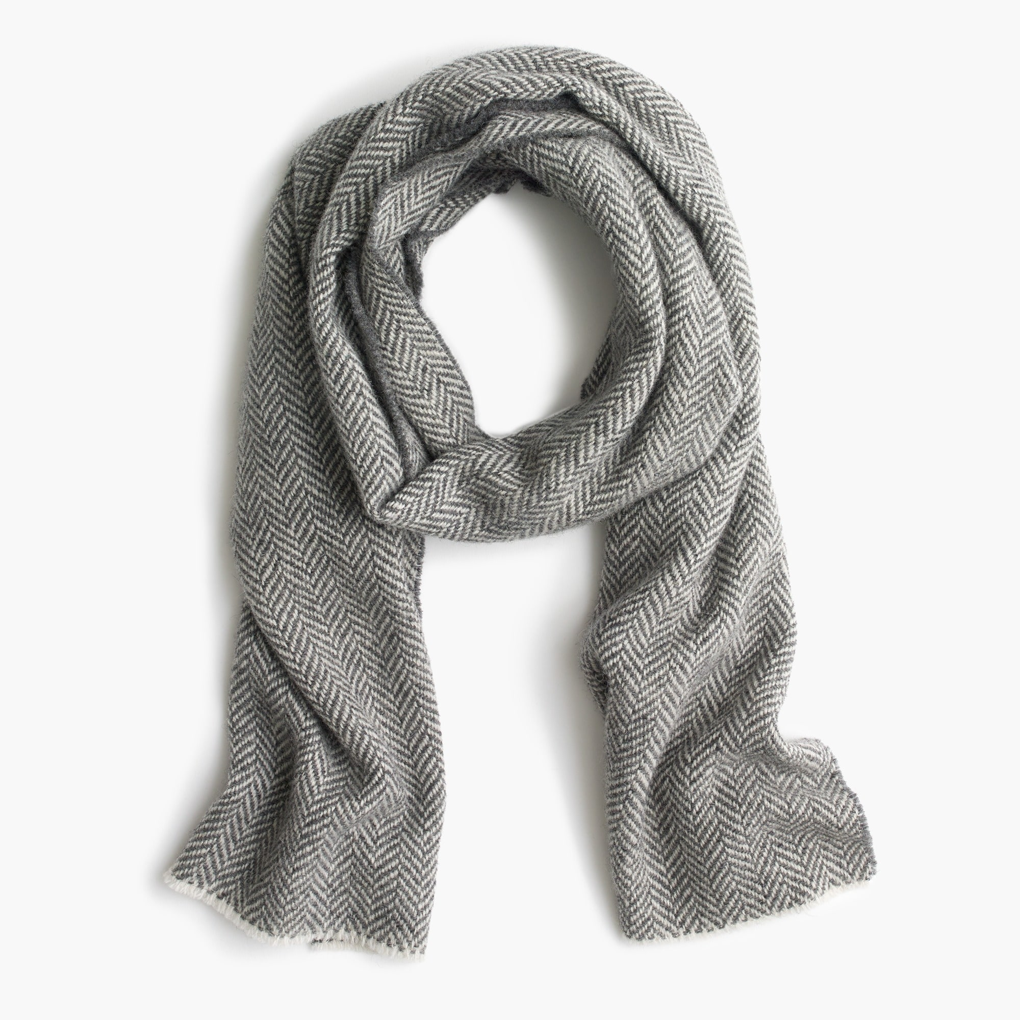 Image 1 for Herringbone twill wool scarf