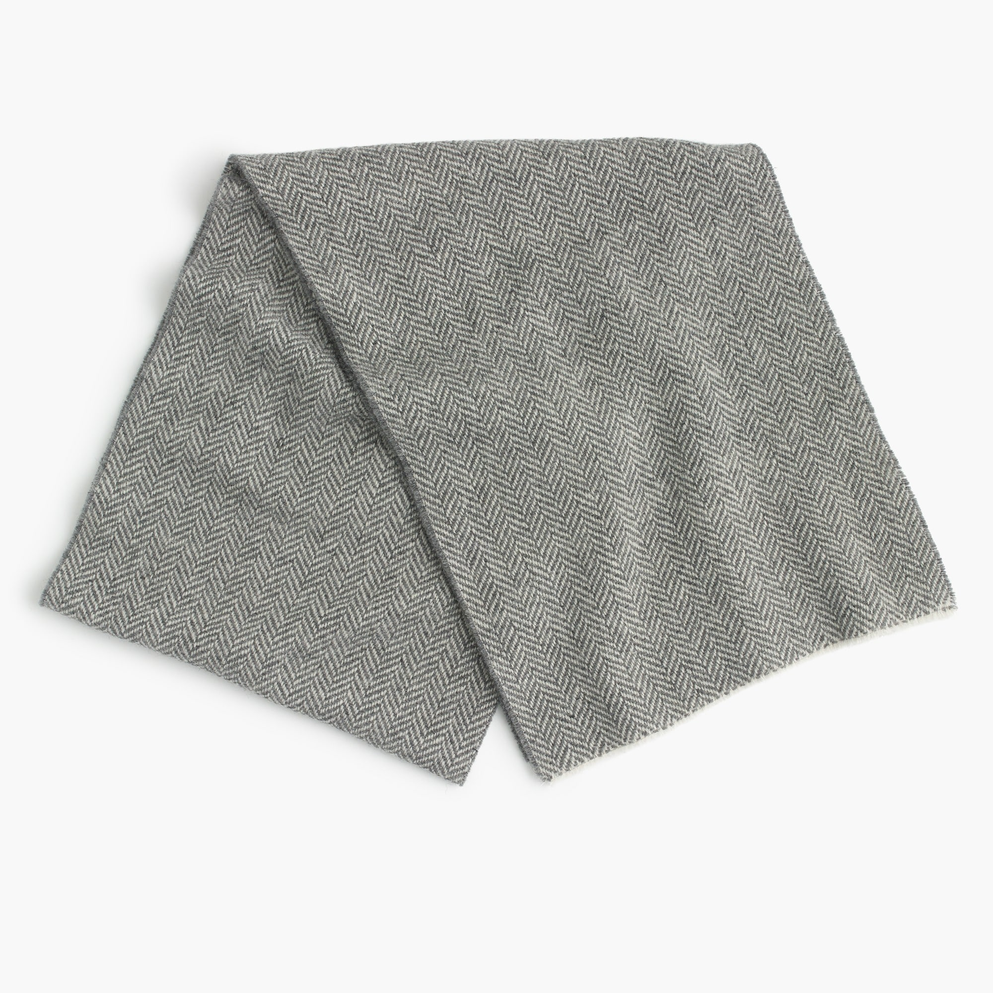 Herringbone twill wool scarf