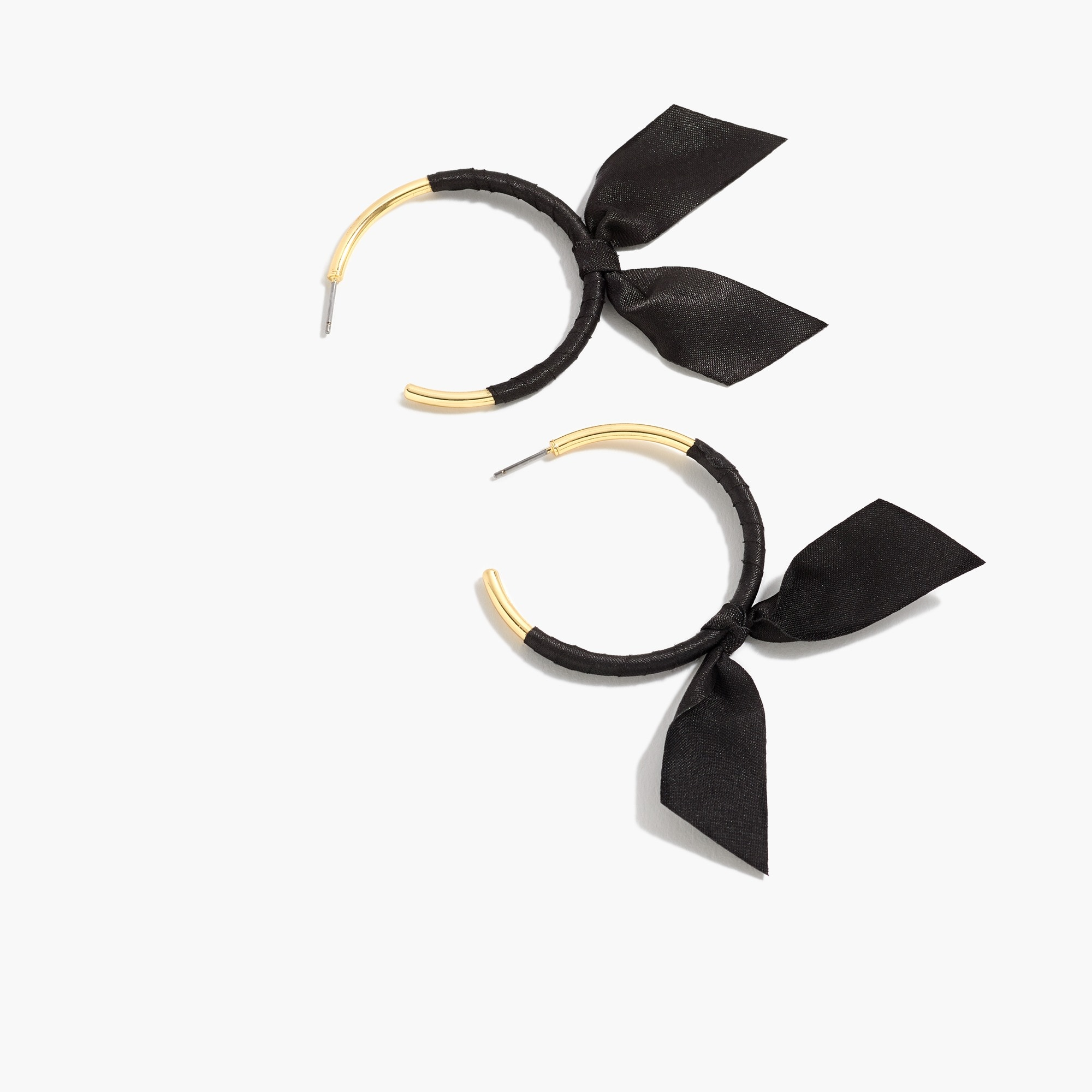 womens Ribbon-wrapped hoop earrings