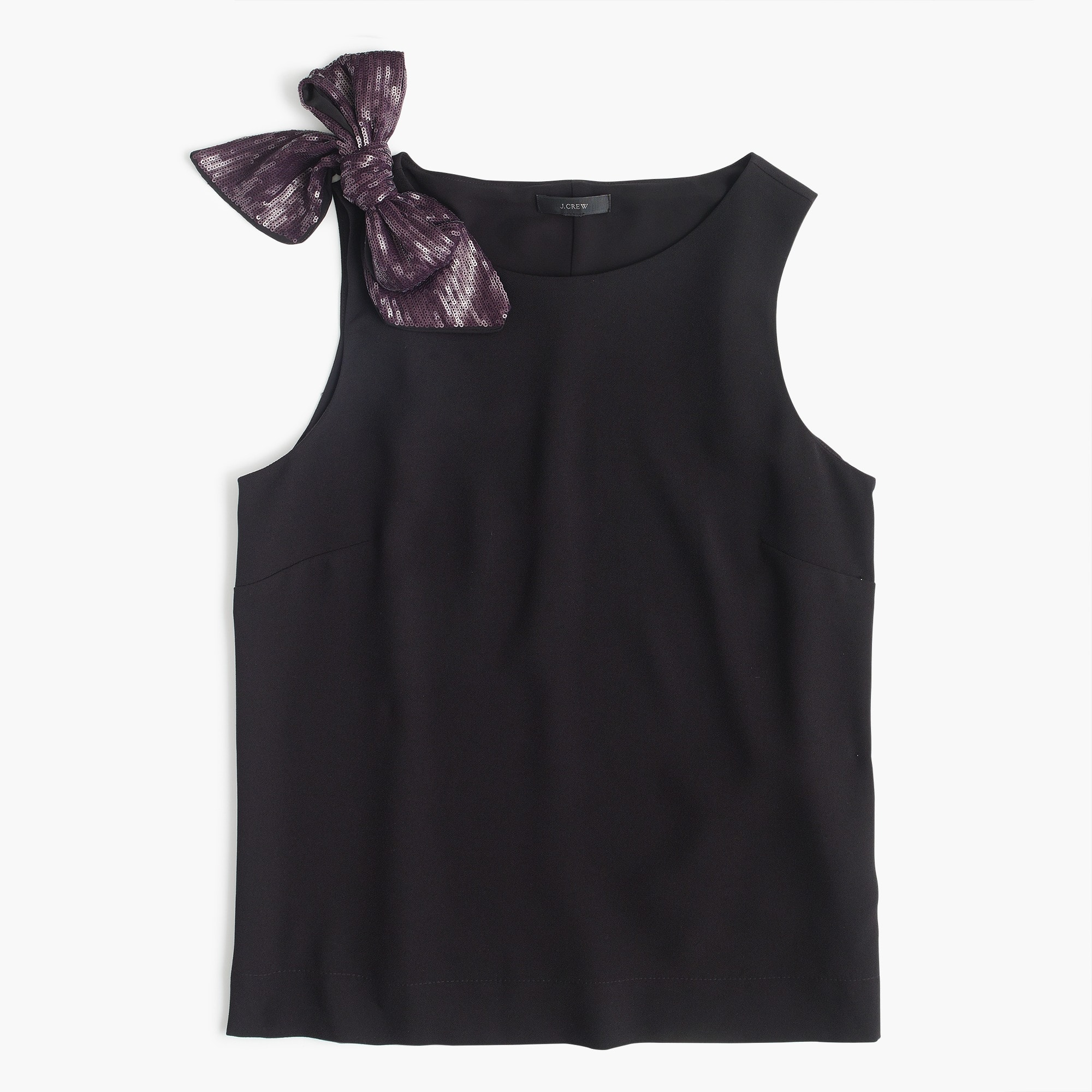 Drapey tank with shoulder bow