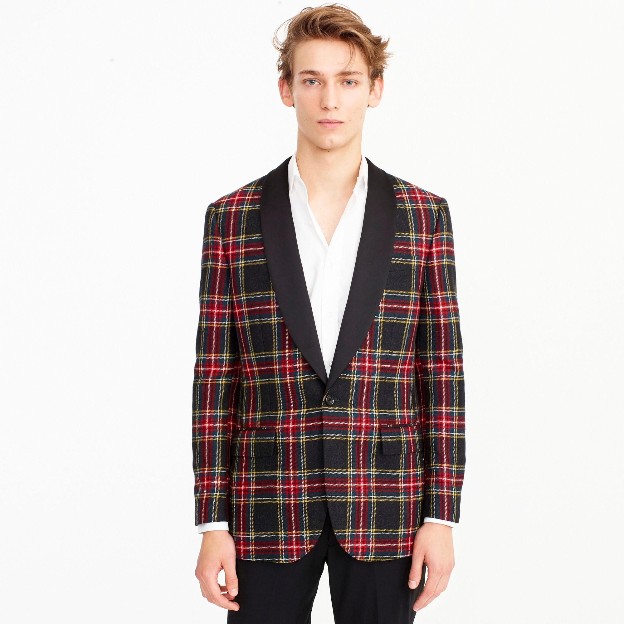 Ludlow Slim-fit blazer in red tartan wool men blazers & vests c