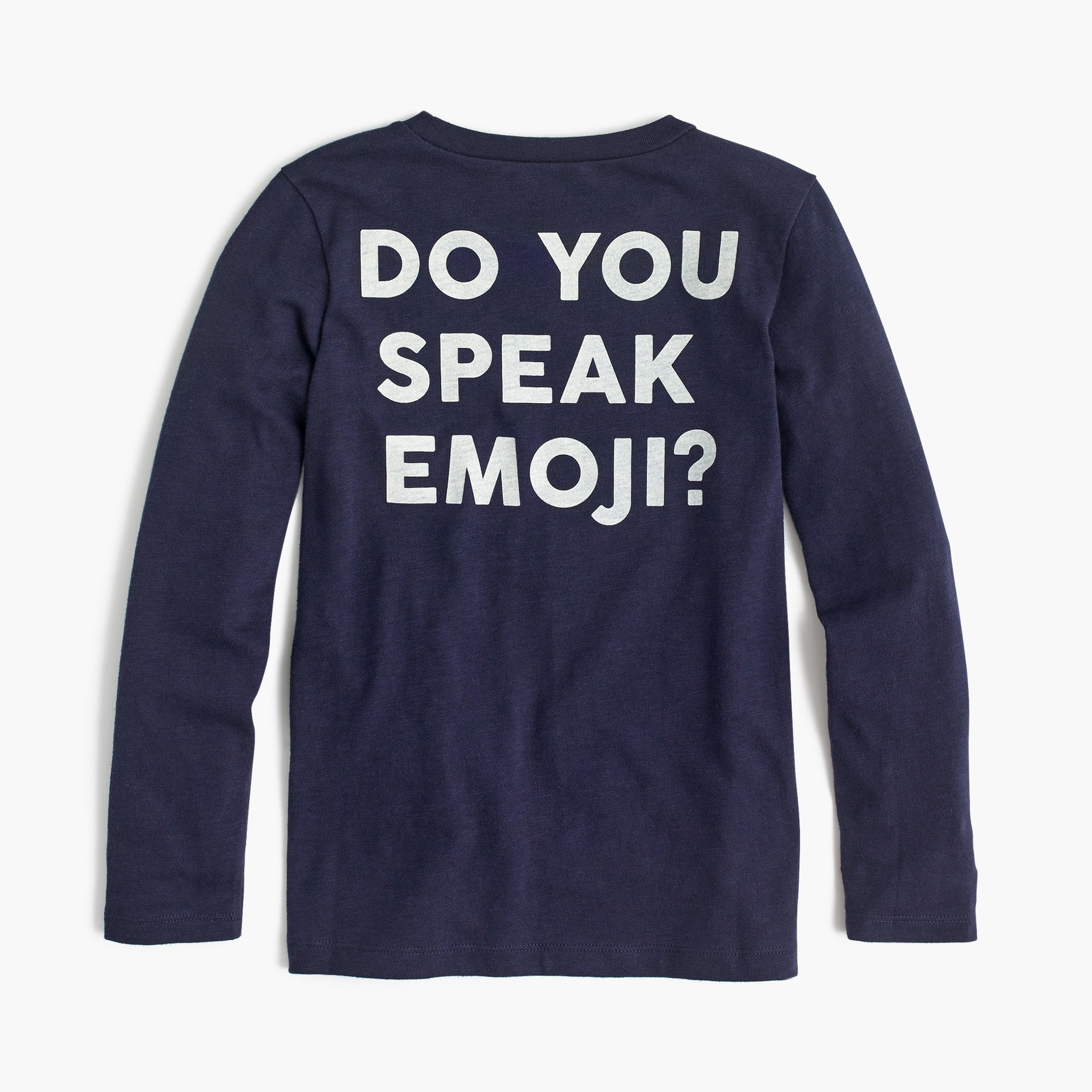 Image 3 for Girls' long-sleeve emoji T-shirt