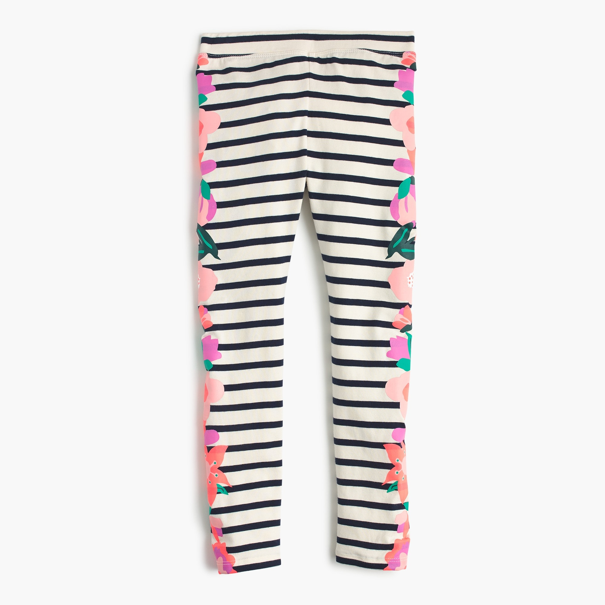 girls' everyday leggings with flowers - girls' knits