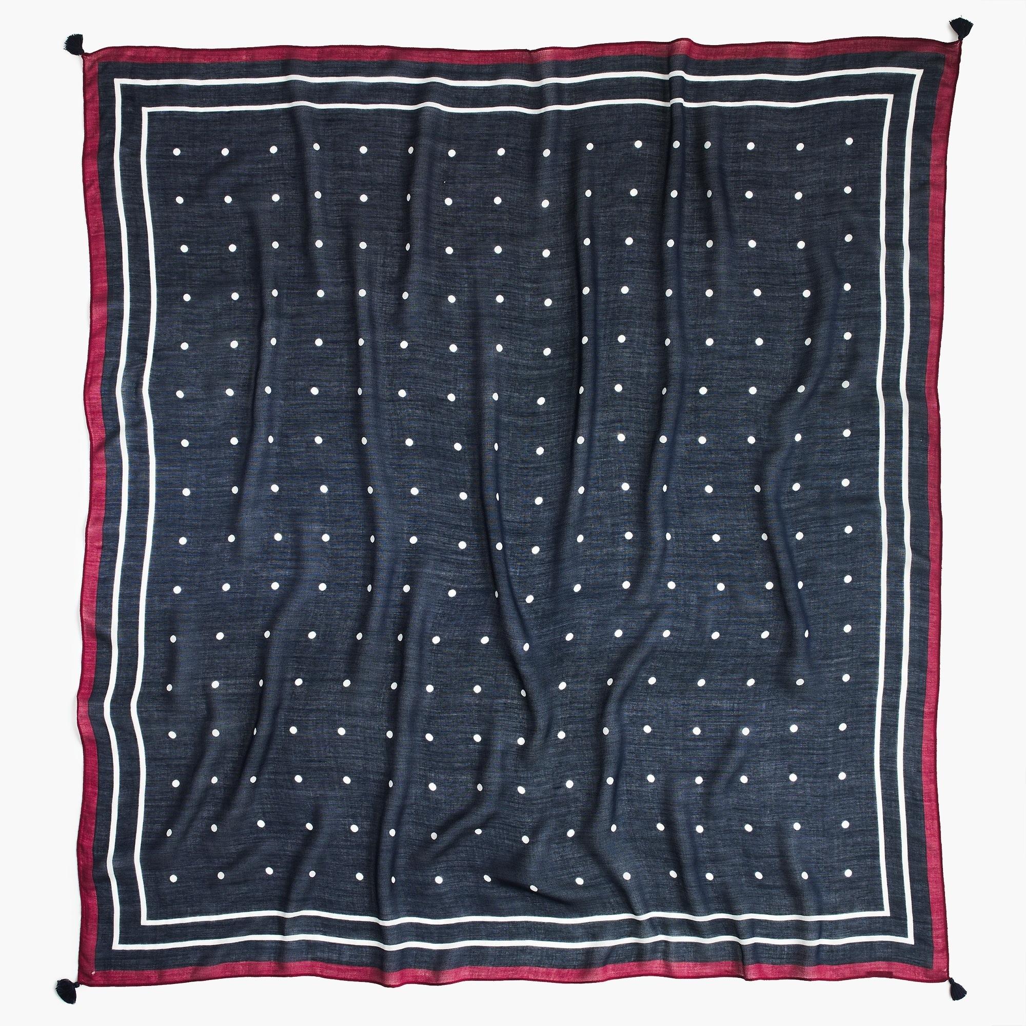 dot tassel woven scarf : women scarves