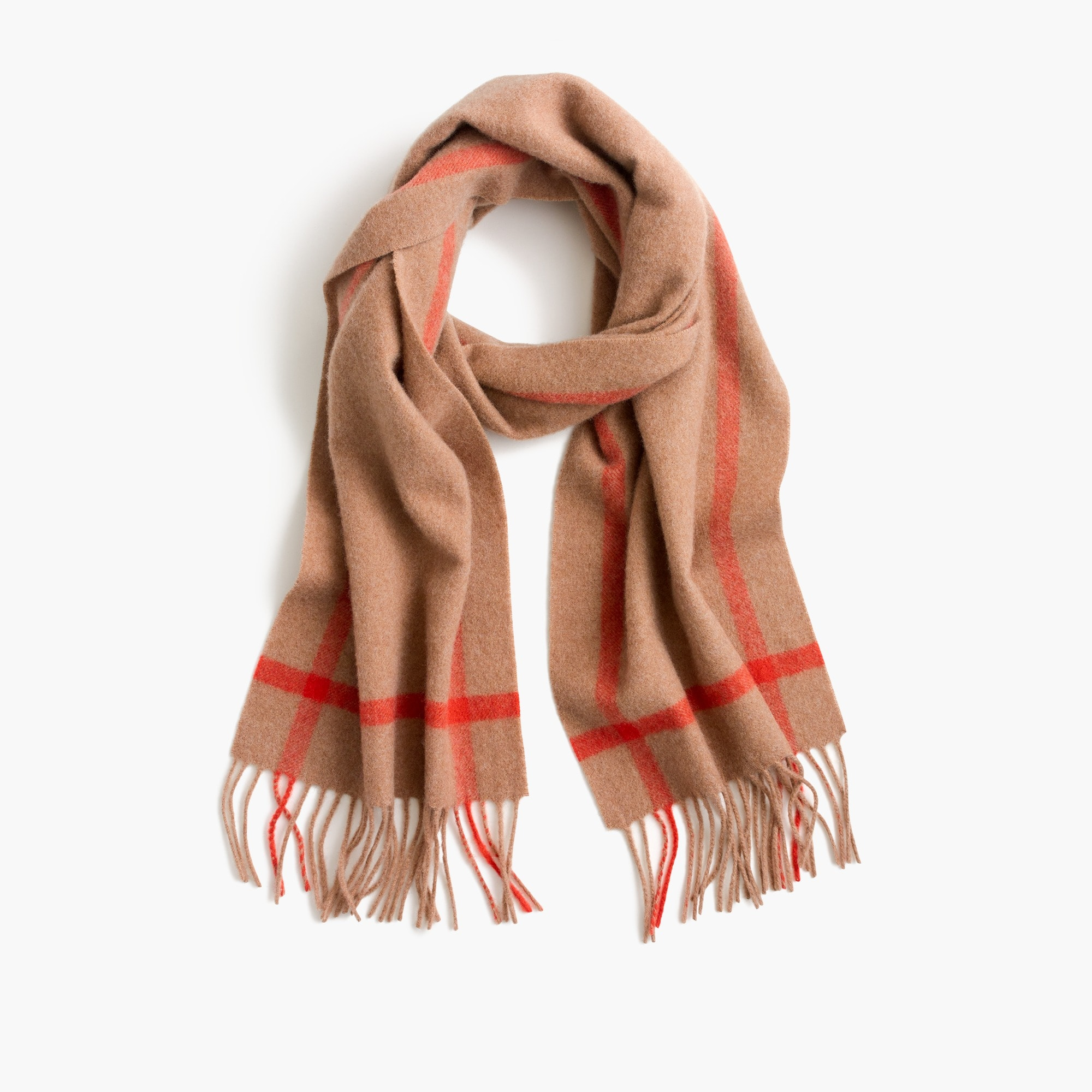 womens Contrast cashmere scarf