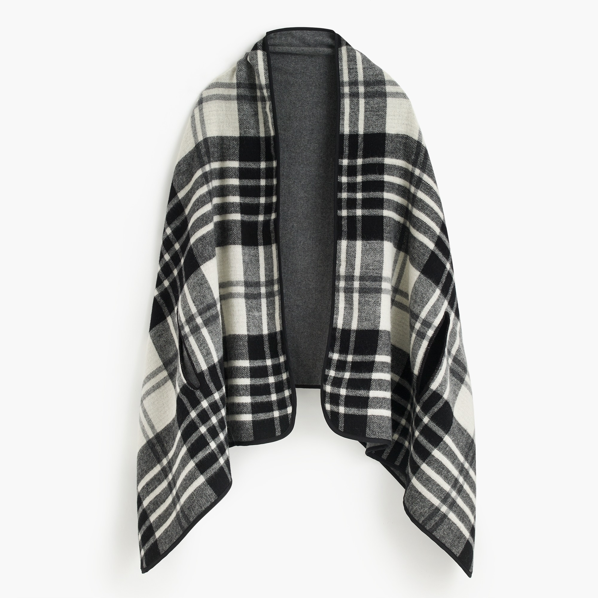 Image 1 for Plaid cape scarf