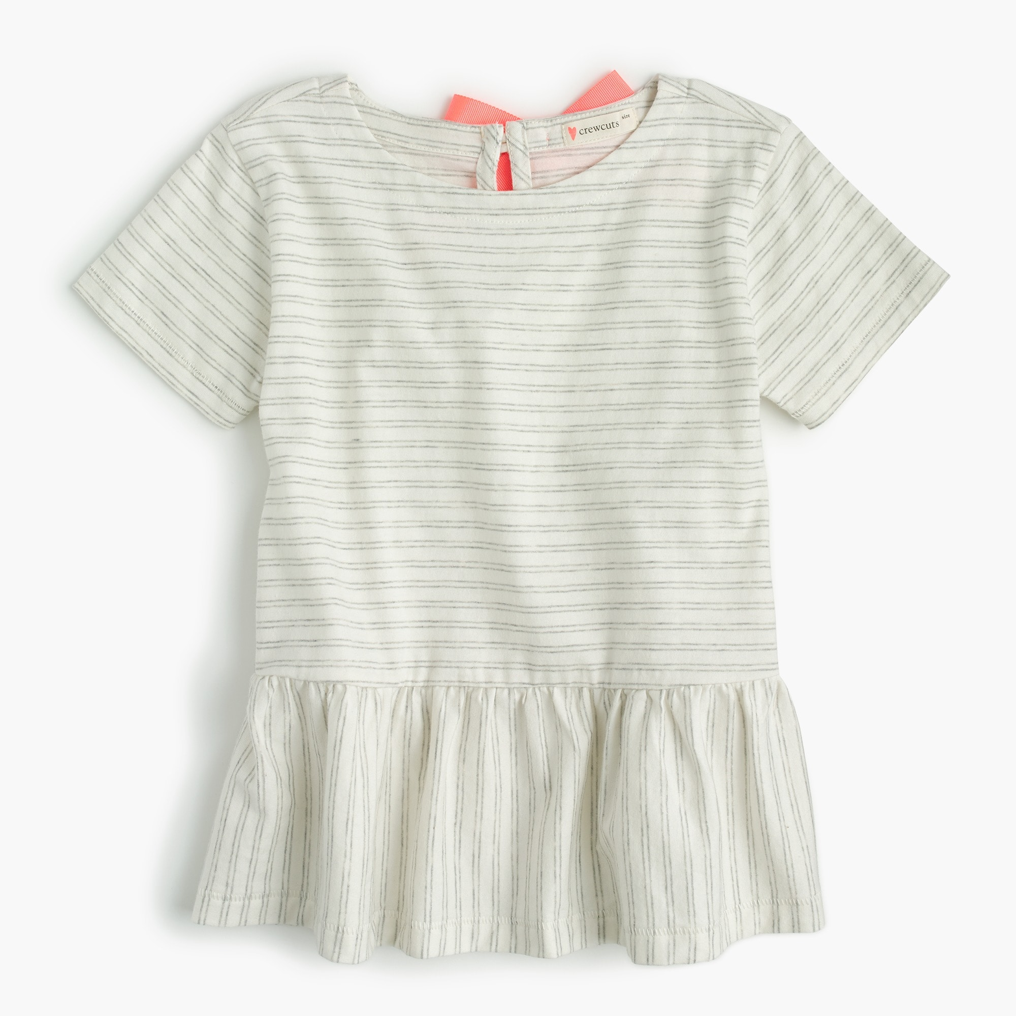Girls' peplum T-shirt girl new arrivals c