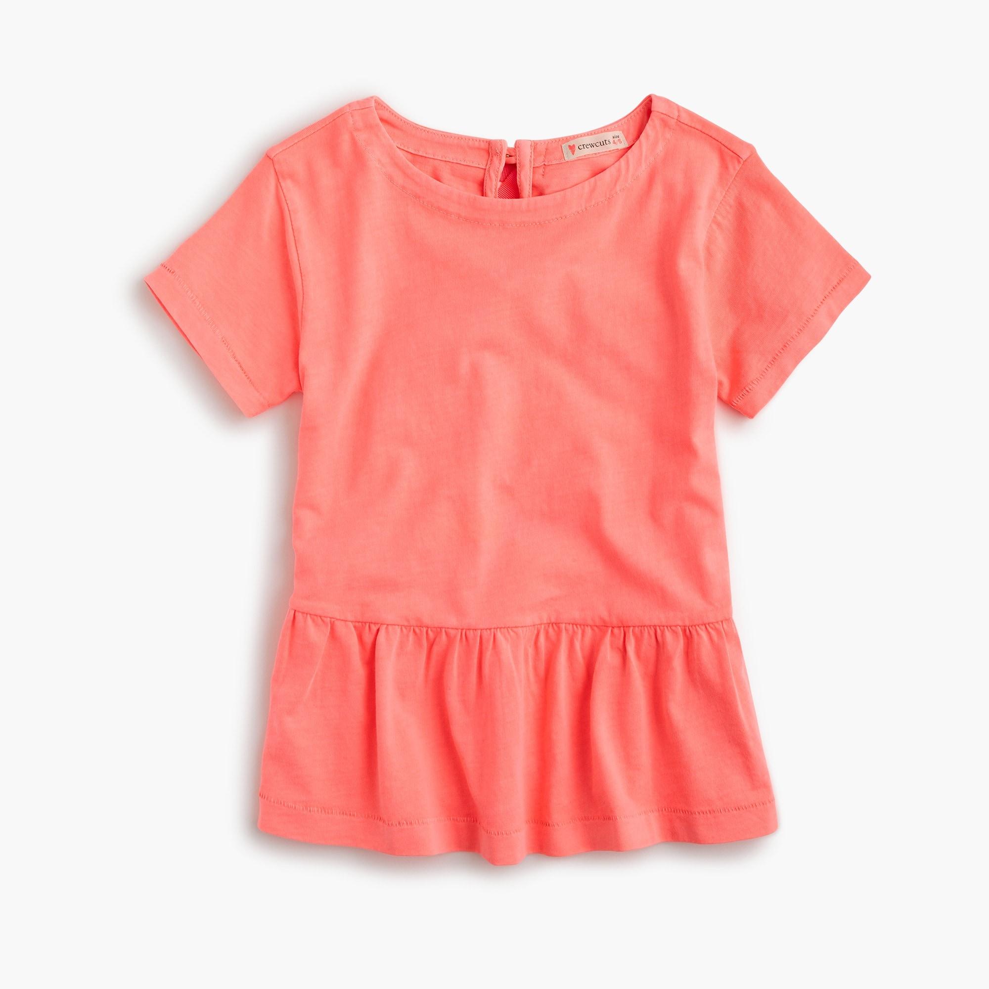 Girls' peplum T-shirt