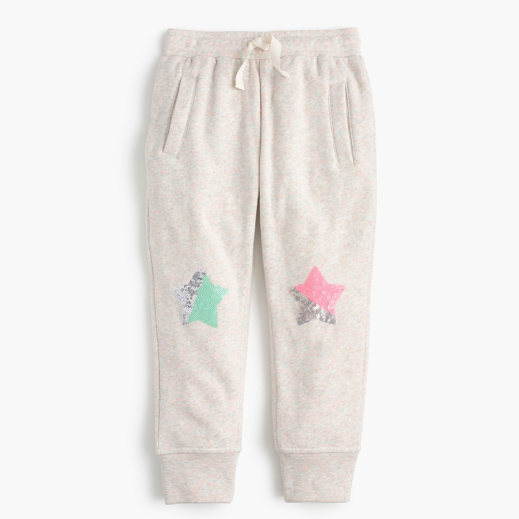 Girls' sequin-star sweatpants