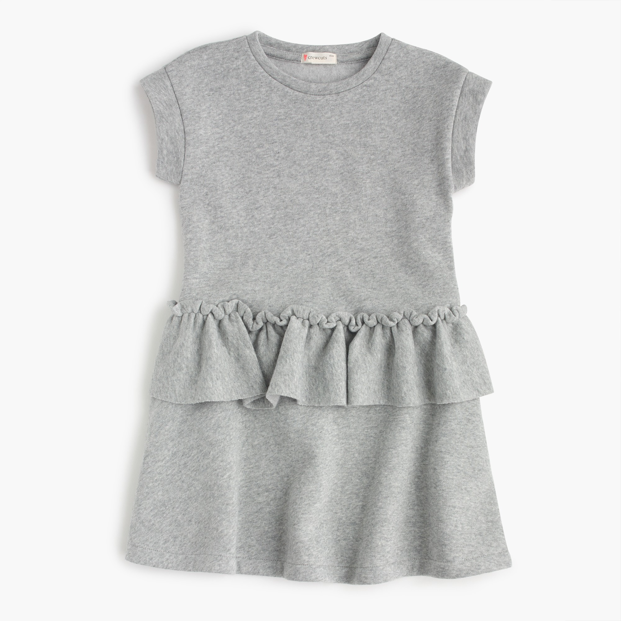 Girls' ruffle-trimmed short-sleeve dress girl new arrivals c