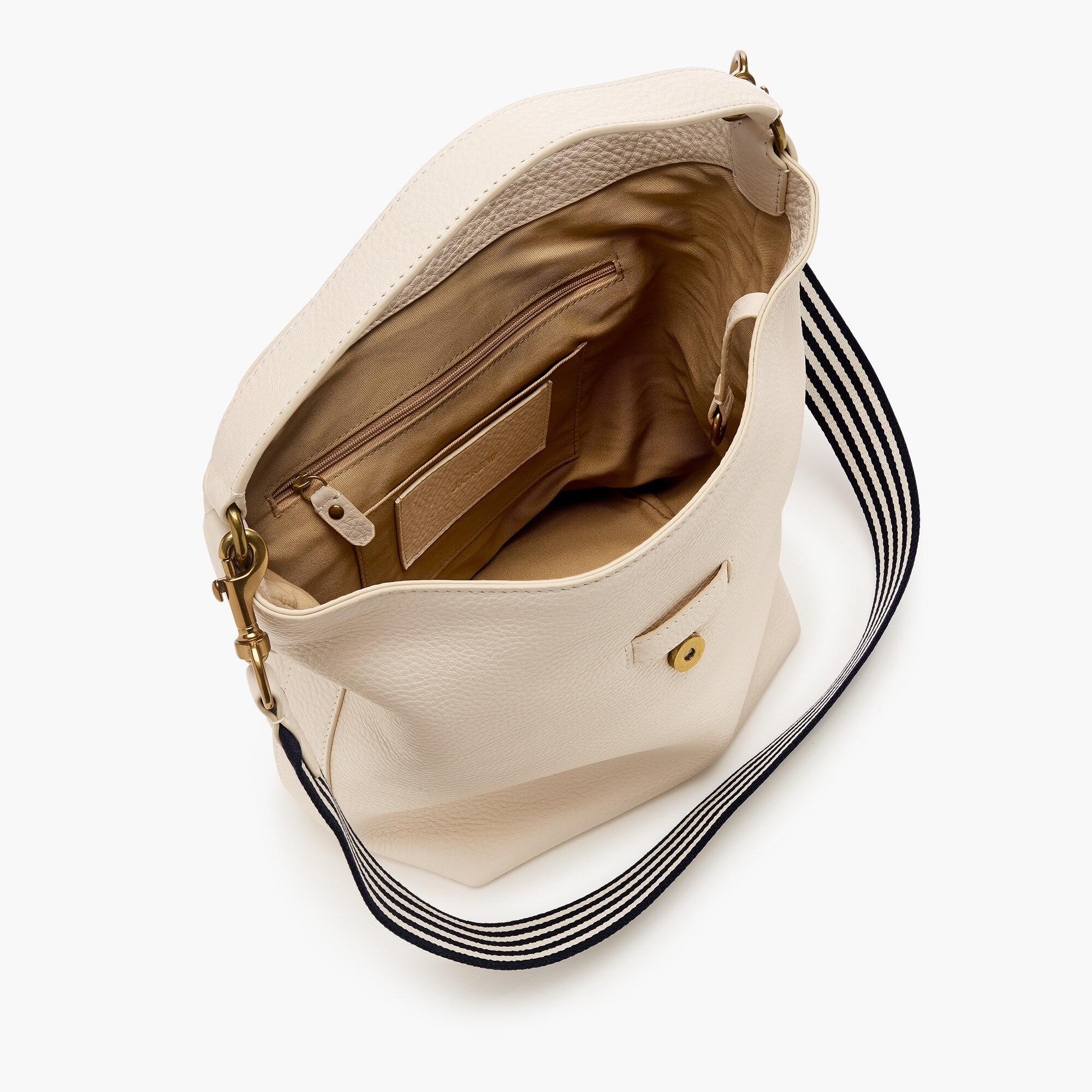 Signet hobo bag in Italian leather