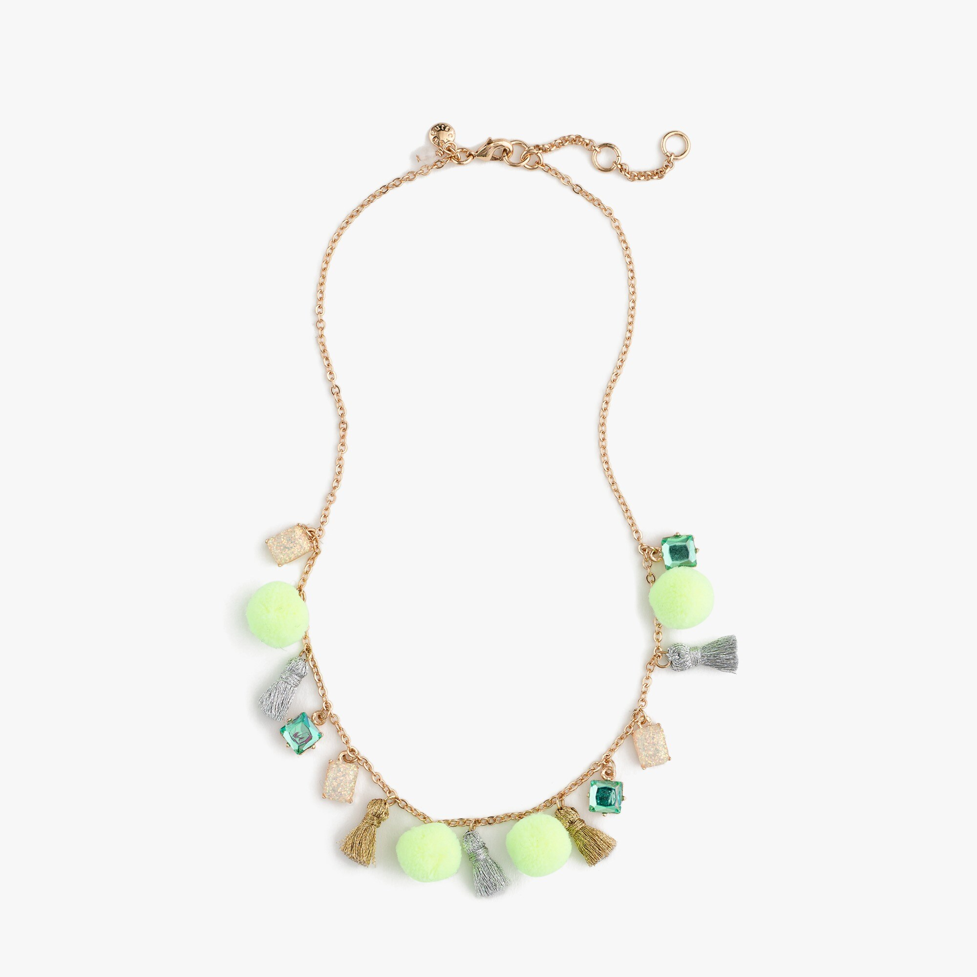 girls' gem and tassel necklace - girls' accessories