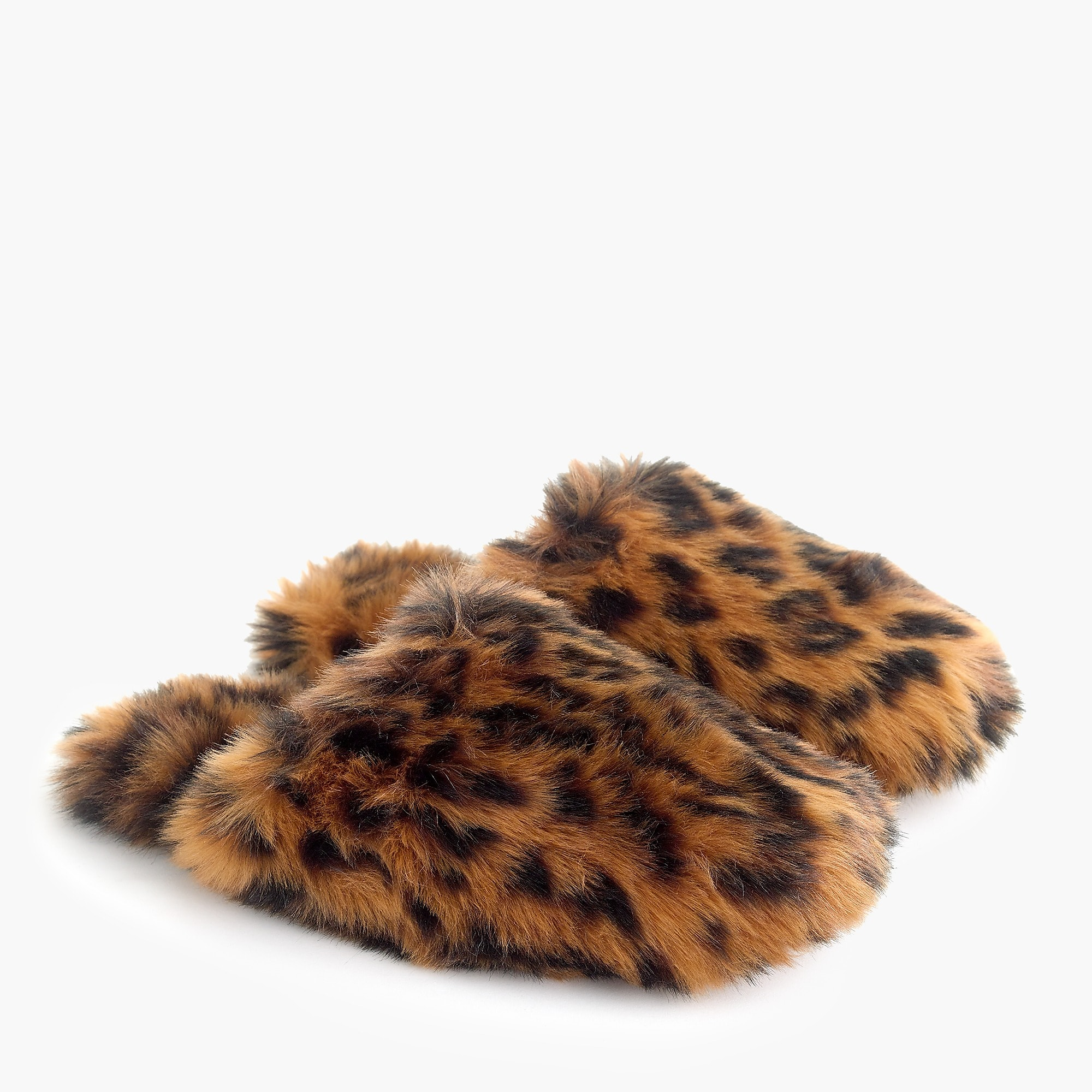 leopard fuzzy slippers women slippers j crew