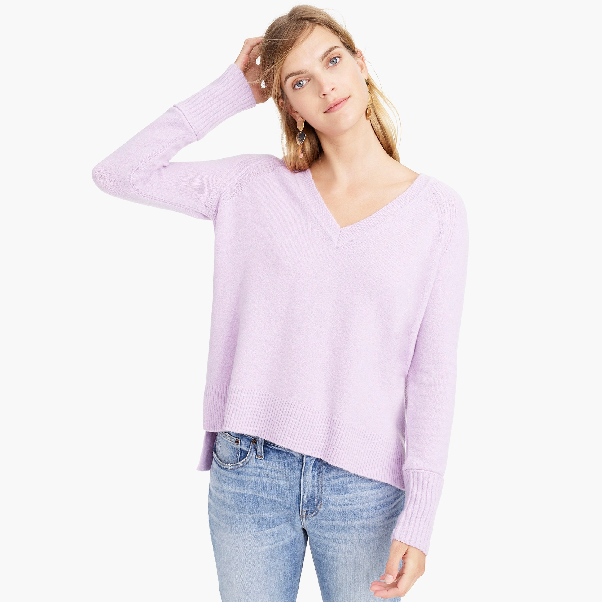 womens V-neck sweater in yarn